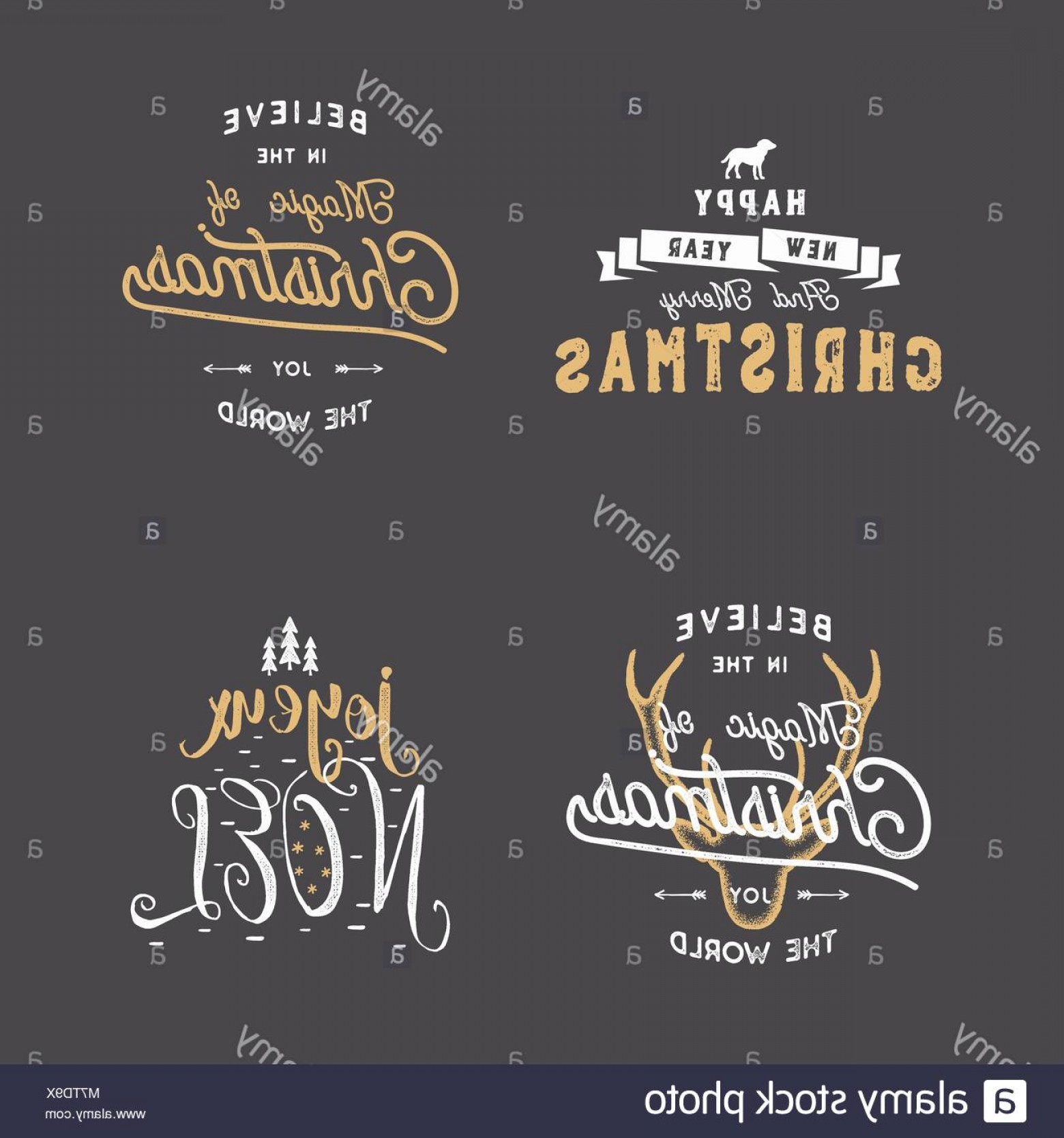 Christmas Vector Sayingd: Stock Photo Merry Christmas Typography Quotes Wishes Set Sunbursts Ribbon And