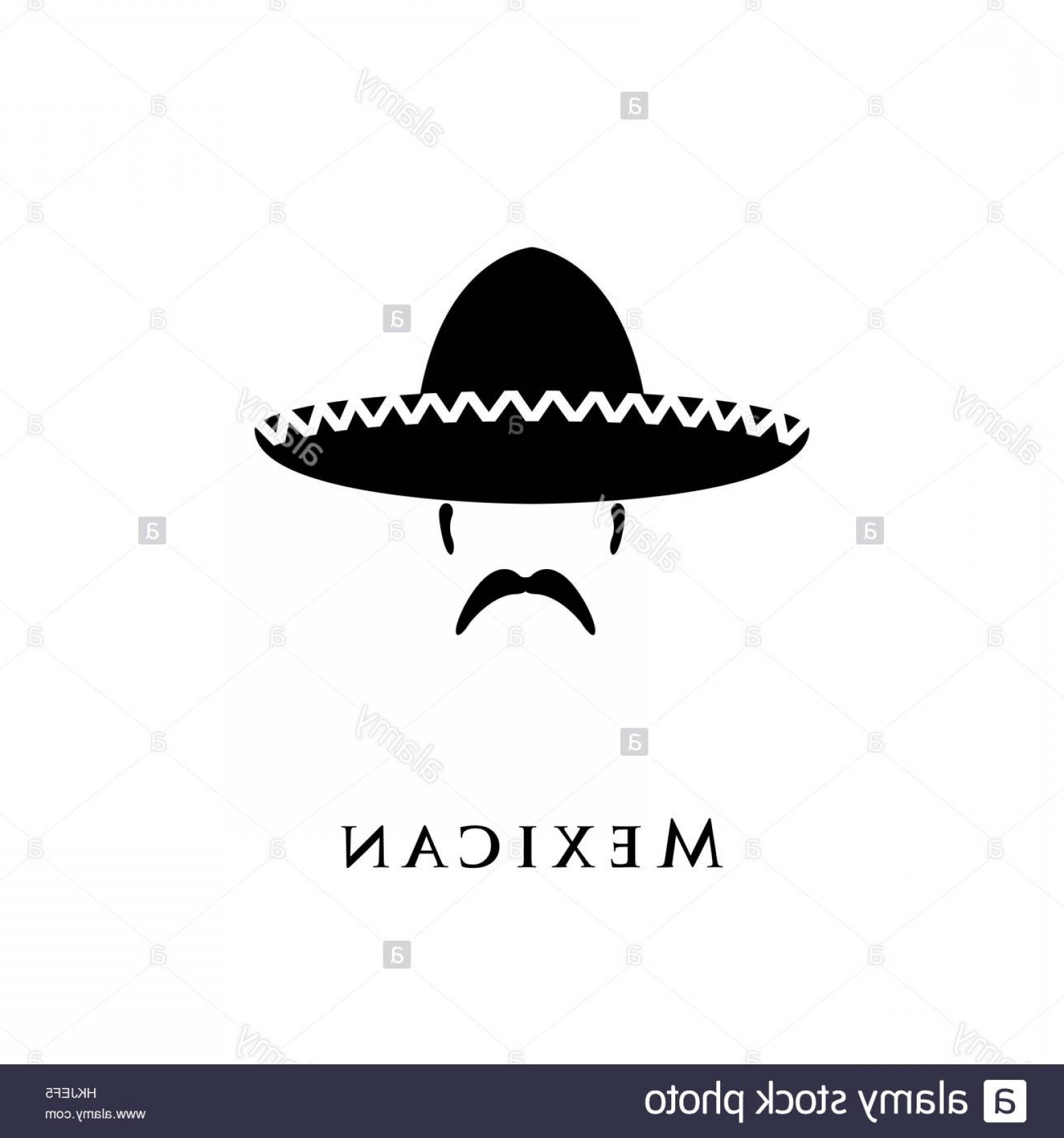 Sombrero Hat Vector: Stock Photo Mexican Hat Sombrero And Mustache Vector Illustration