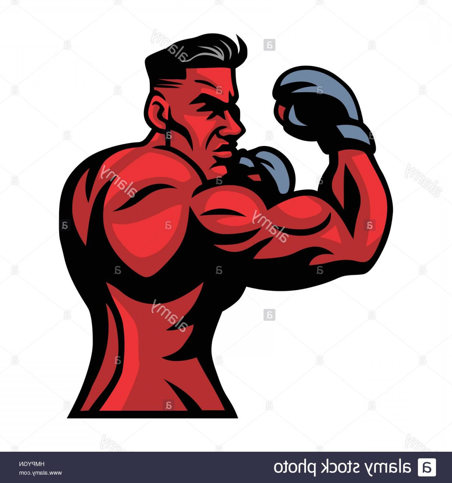 UFC Logo Vector: Stock Photo Mma Ufc Fighter Mascot Vector Illustration