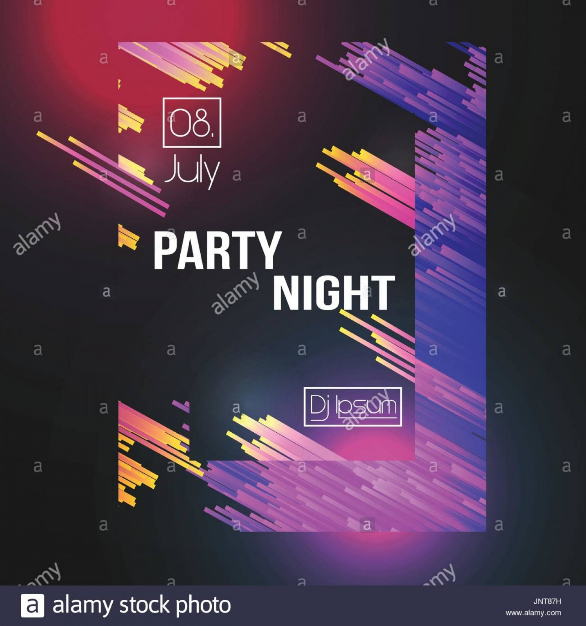Club Flyer Vector: Stock Photo Modern Club Party Flyer Vector Illustration