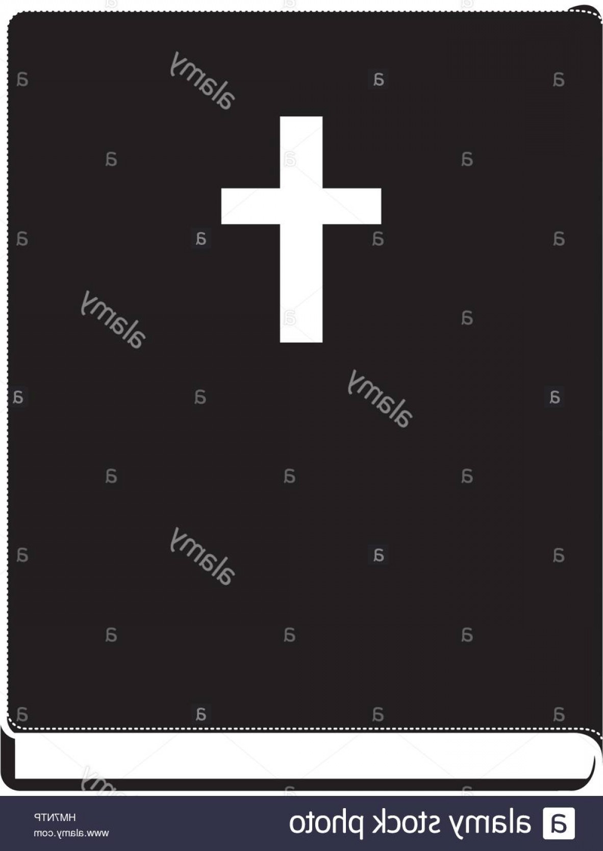 Holy Bible Vector: Stock Photo Monochrome Silhouette With Holy Bible Vector Illustration