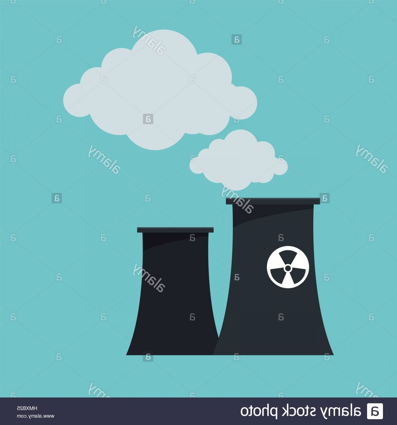 Vector Power Plant Utility: Stock Photo Nuclear Power Plant Tower Design