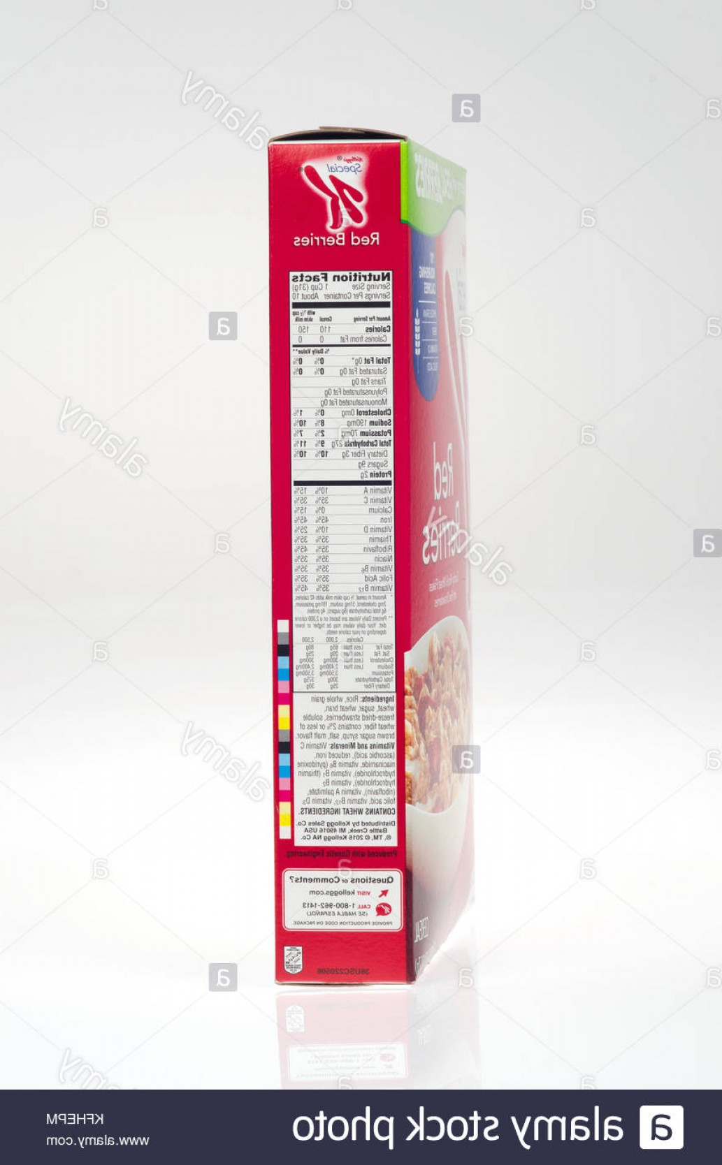 Nutrition Label Kellogg's Vector: Stock Photo Nutrition Facts On Box Of Kelloggs Special K With Red Berries Cereal
