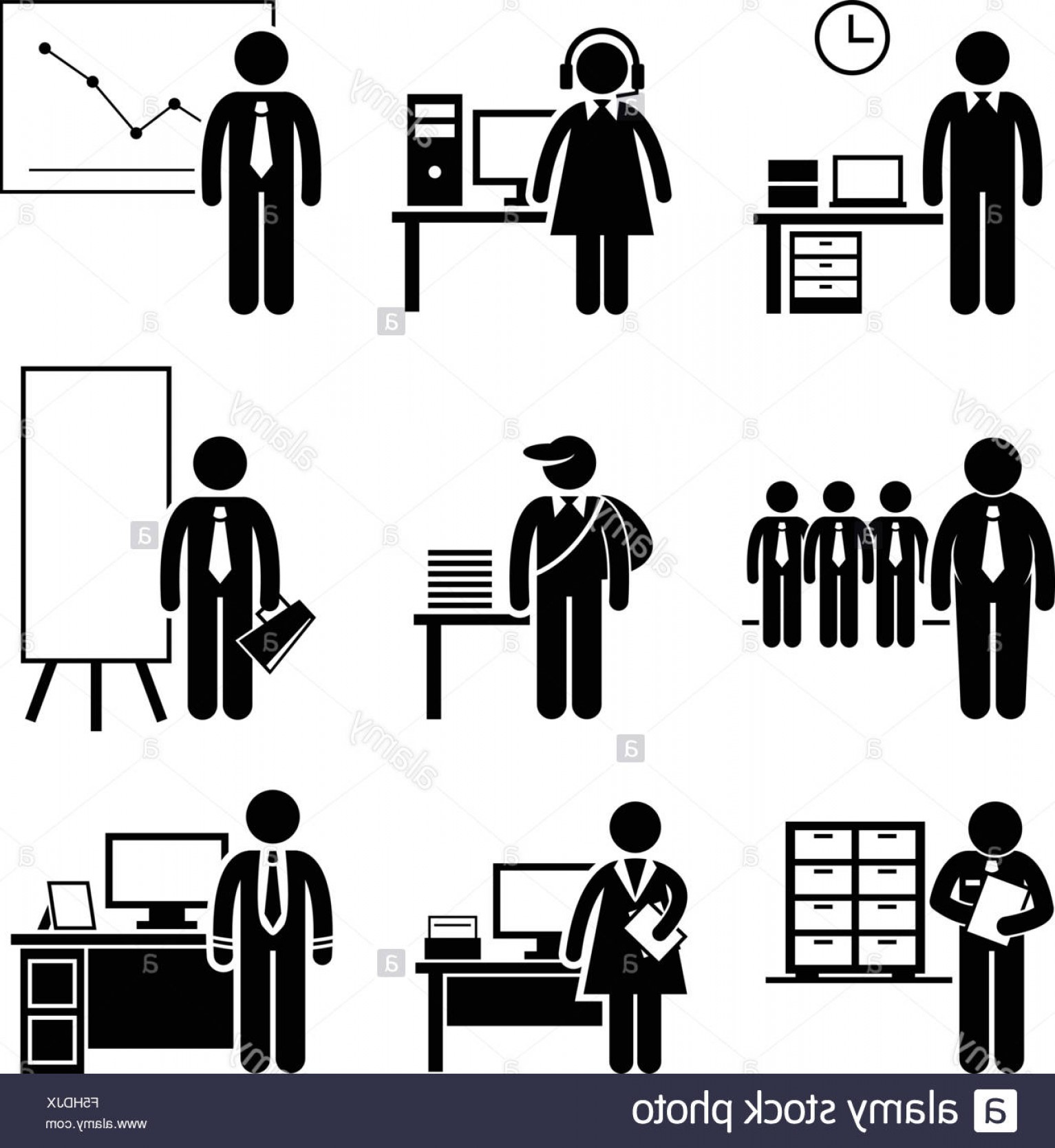 Support Staff Vector: Stock Photo Office Jobs Occupations Careers Staff Employee Help Desk Support Analyst