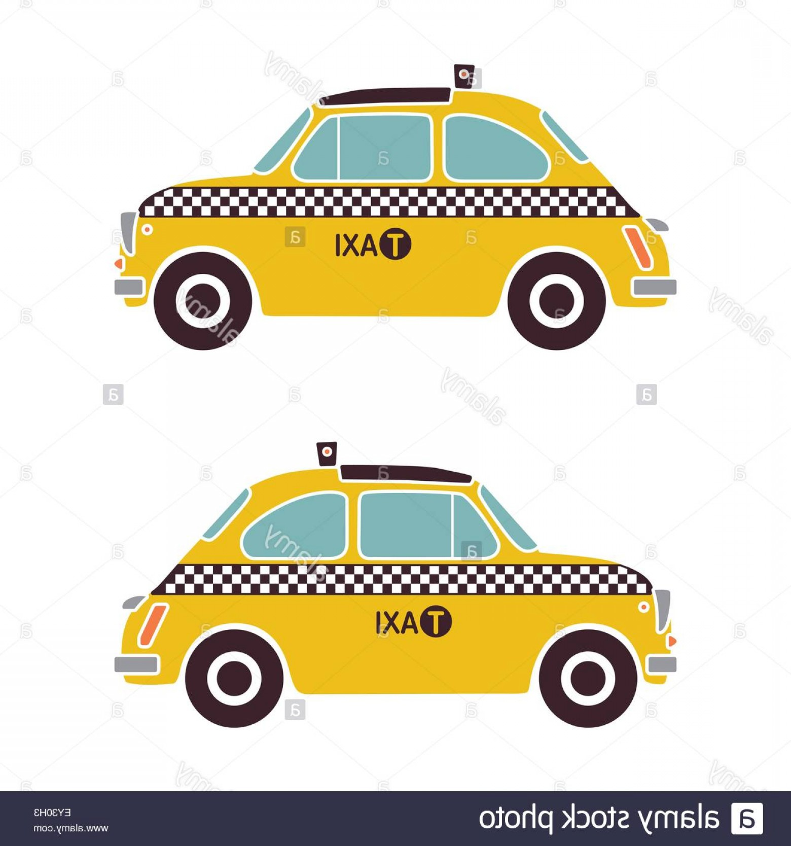 New York Taxi Cab Vector: Stock Photo Old Italian Car As New York Yellow Cab