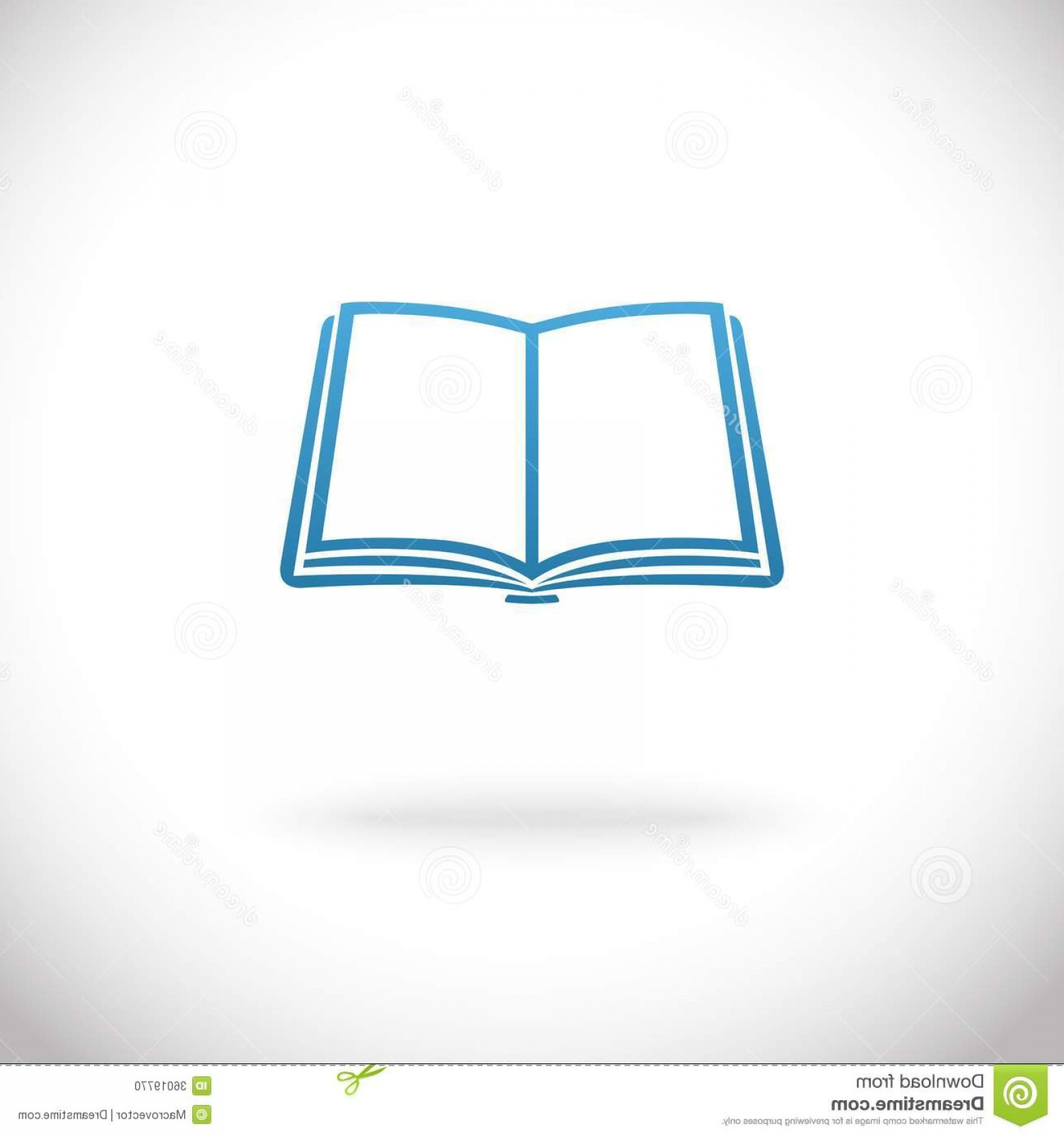 Open Book Vector Flat: Stock Photo Open Book Icon Vector Illustration Image