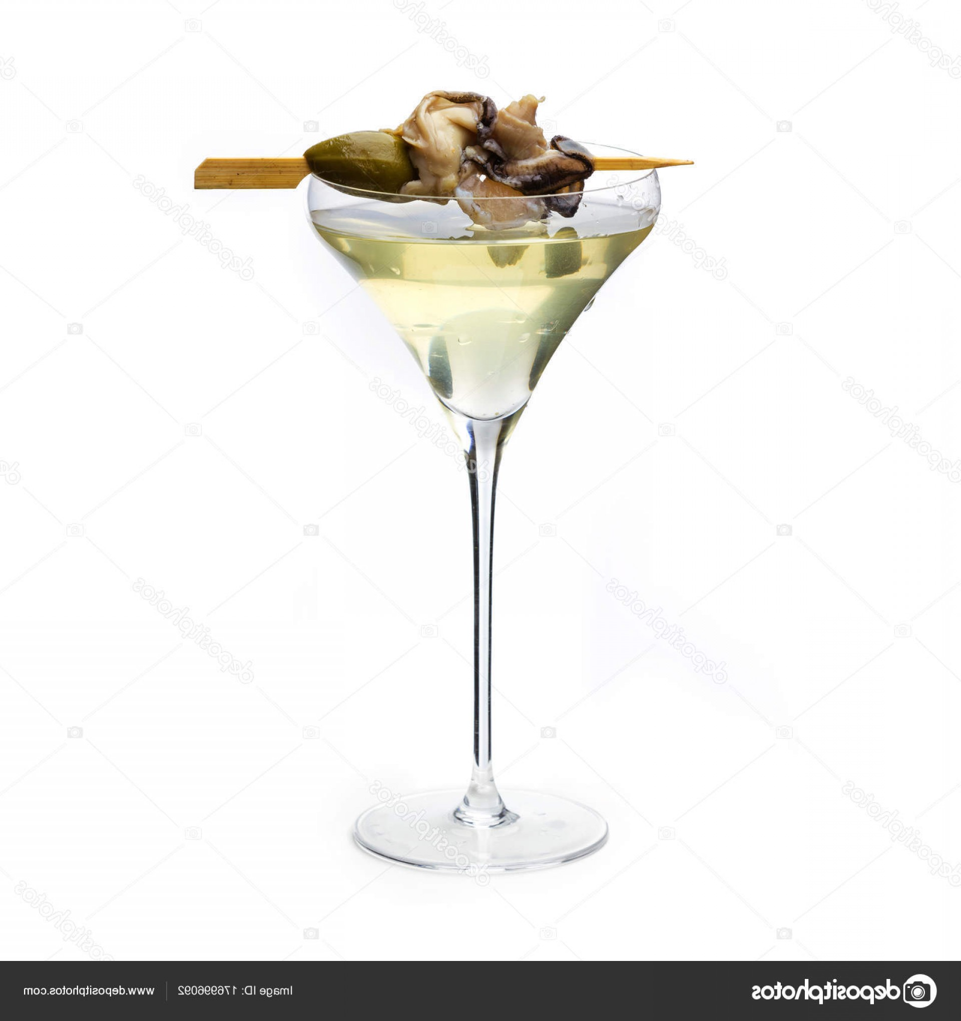 Vector Oyster Shooter: Stock Photo Oyster Cocktail Oyster On Wooden