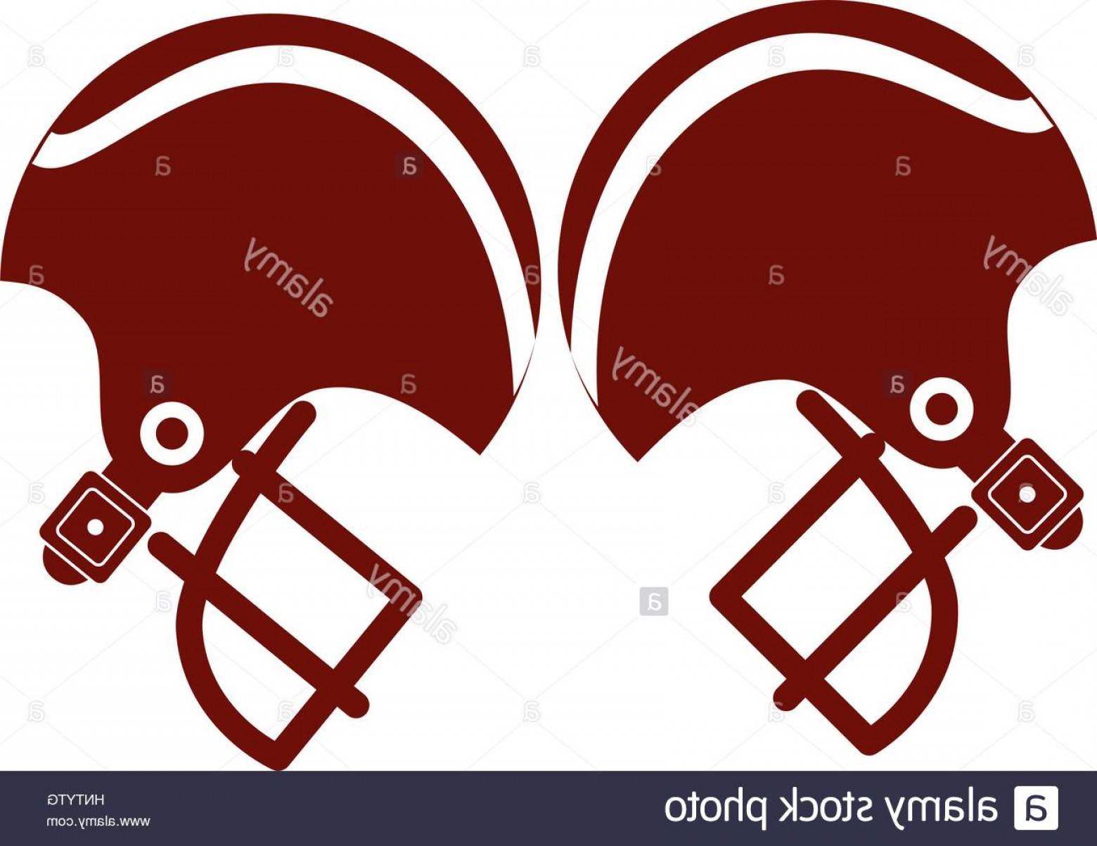 High Res Vector American Football: Stock Photo Pair Of American Football Helmet Vector Illustration