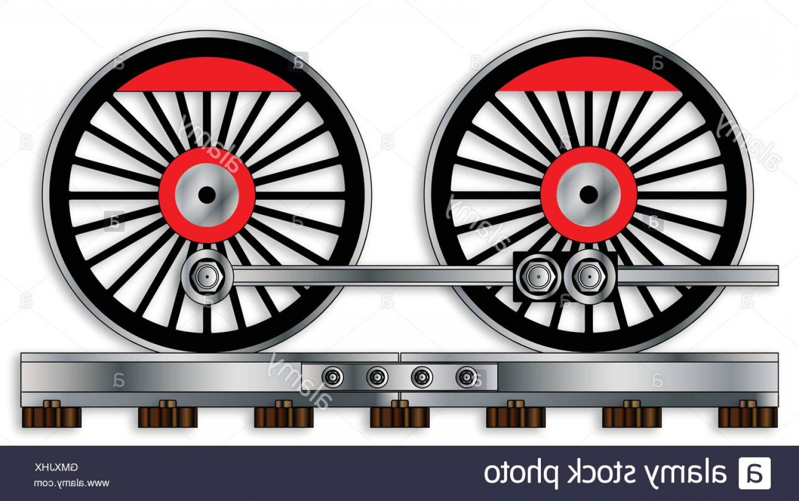 Vector Train Wheel: Stock Photo Pair Of Train Wheels