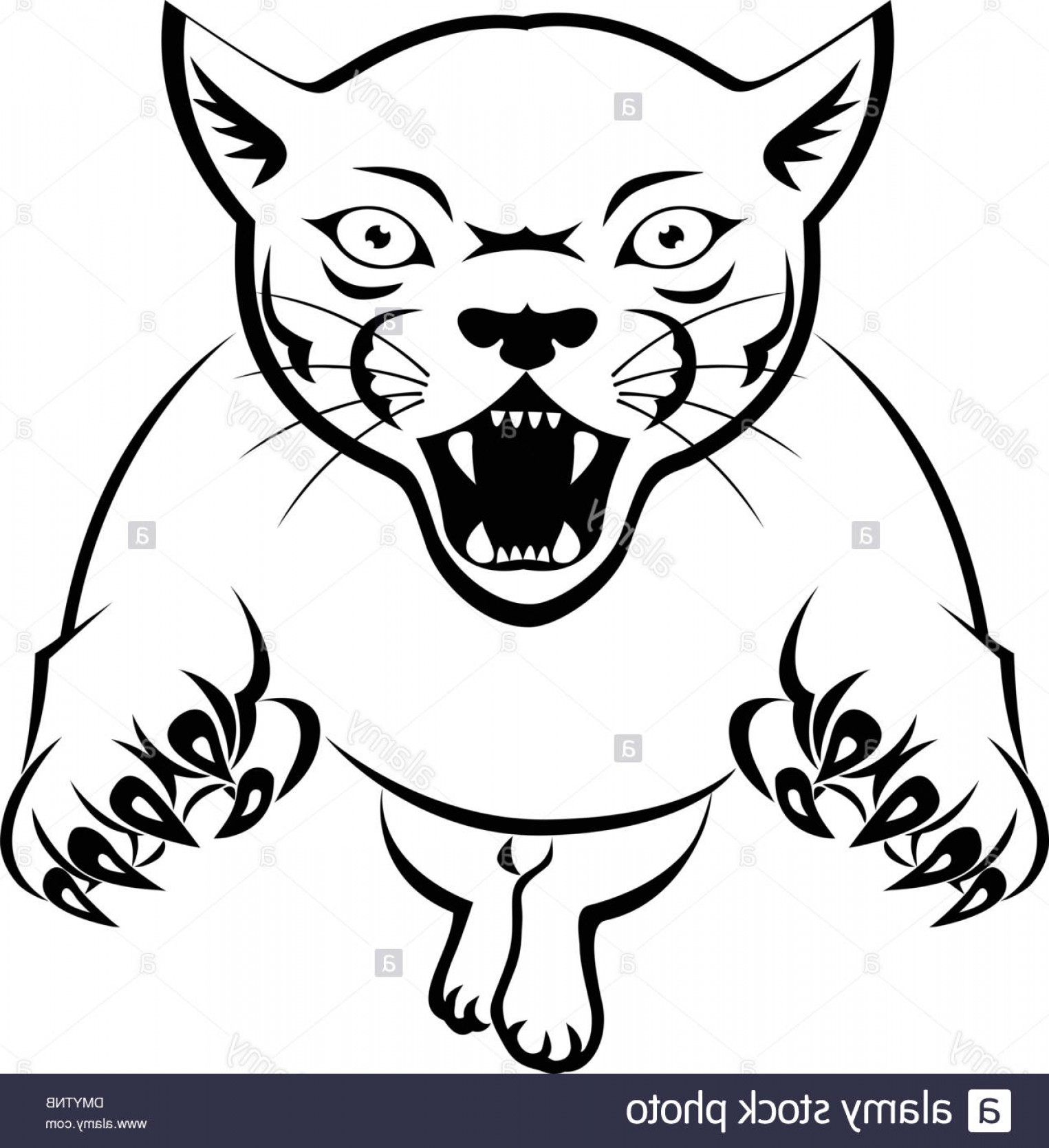 Panther Vector: Stock Photo Panther Attacking Tattoo
