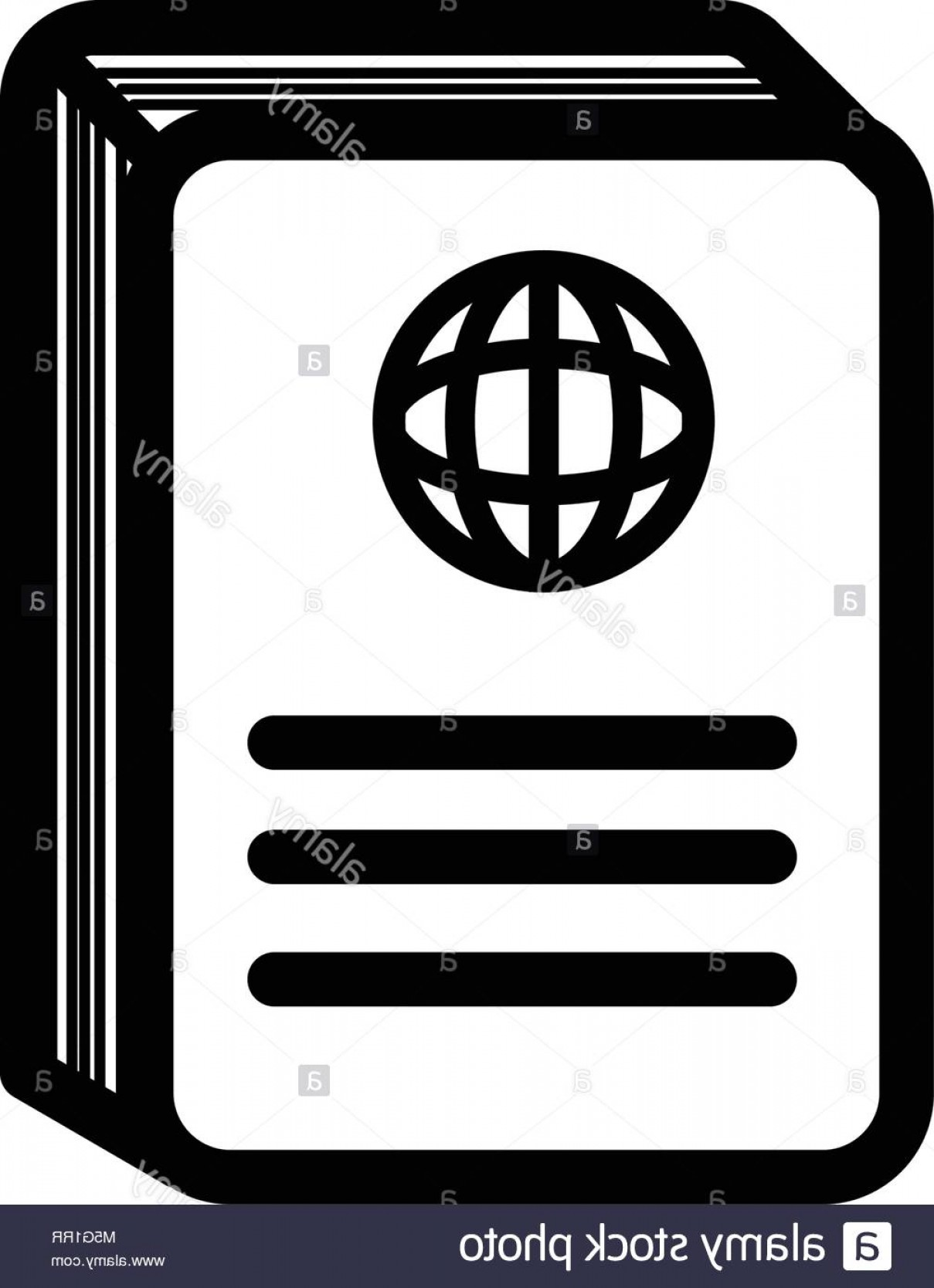 Visa Logo Vector Clip Art: Stock Photo Passport Sign Visa Document Icon Outline And Filled Vector Sign Linear