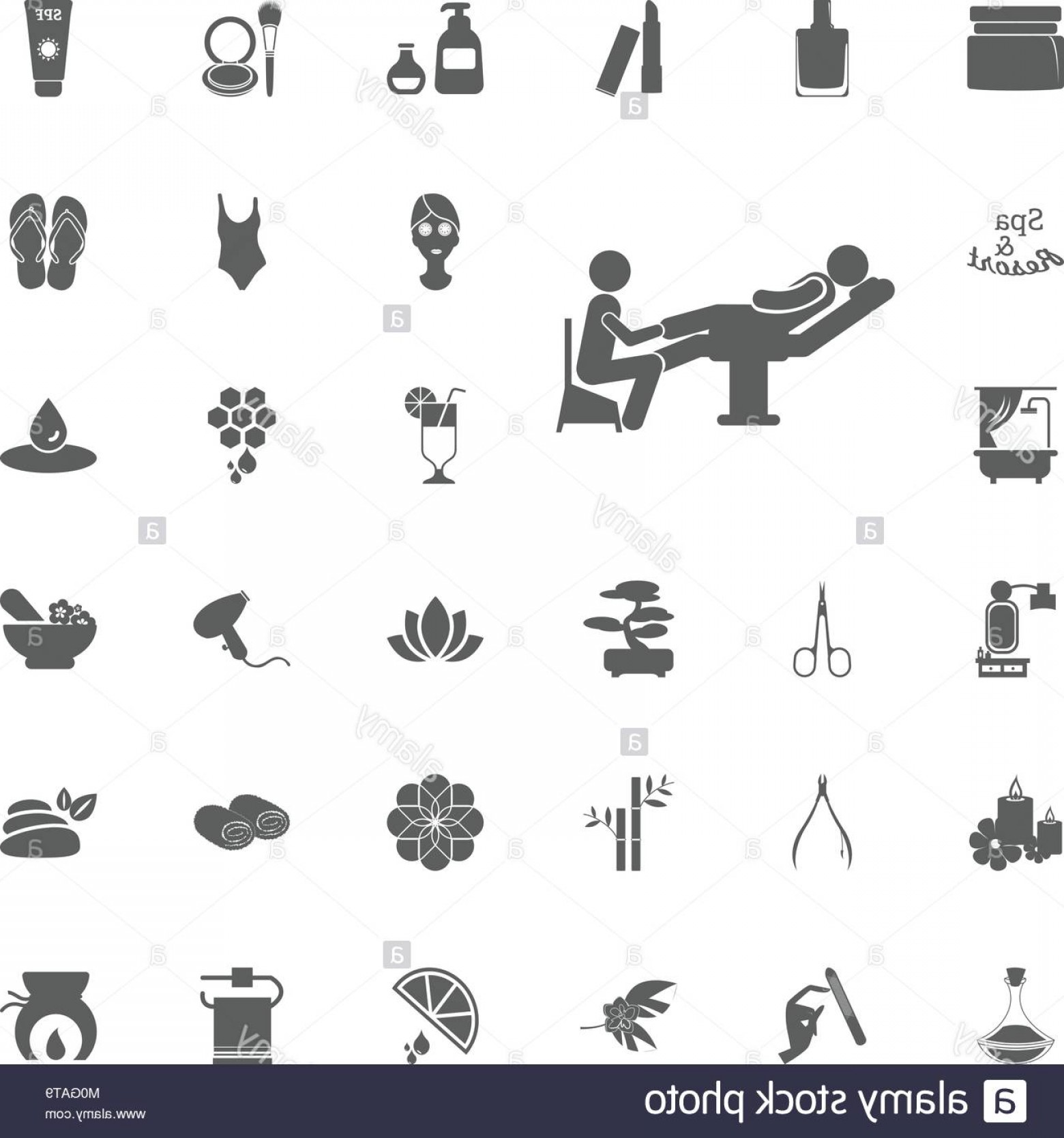 33 Rifle Vector: Stock Photo Pedicure Icon Spa And Recreation Vector Set Icons Set Of Spa Icons