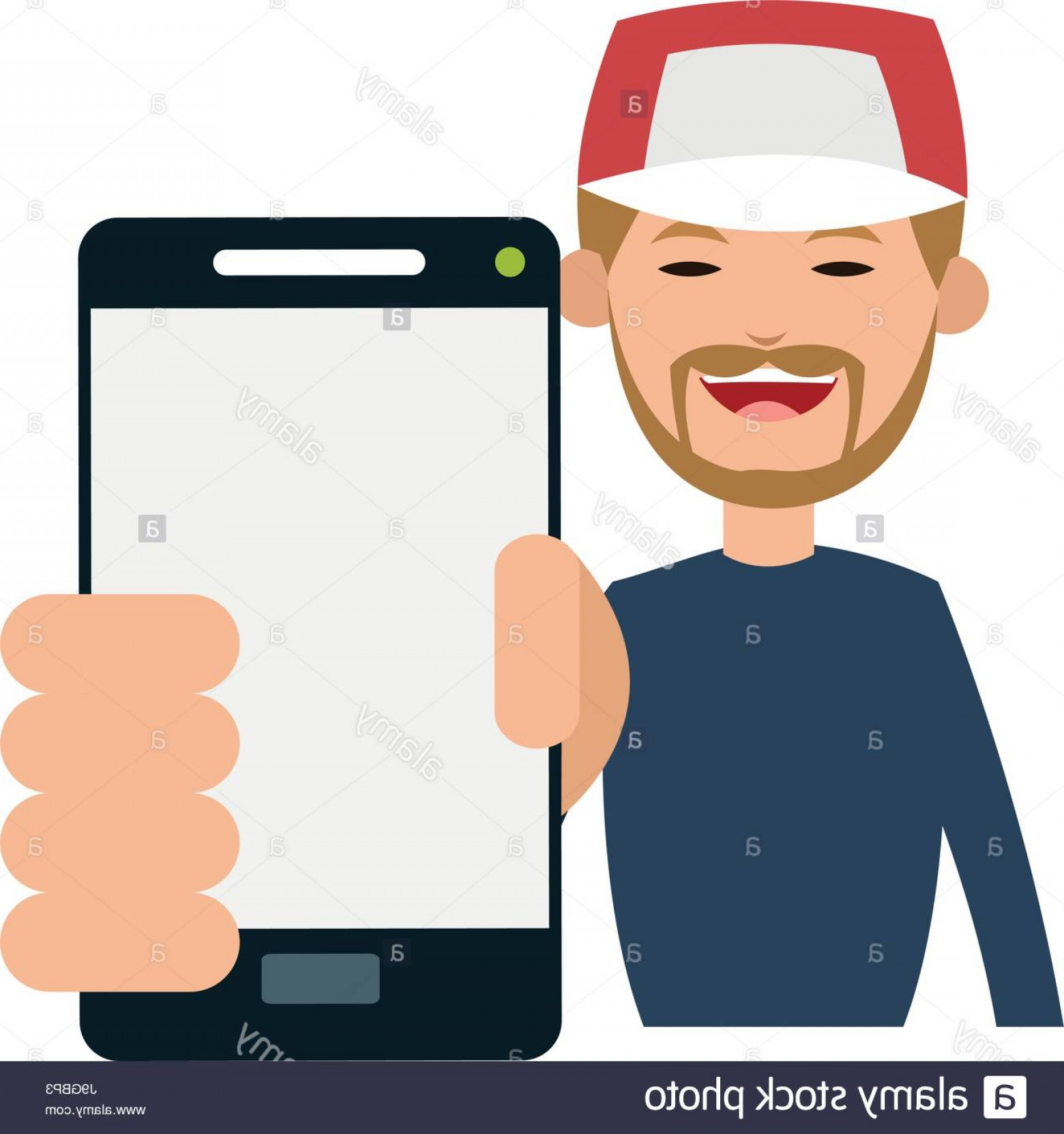 Vector Person Holding: Stock Photo Person Holding Smartphone Icon Image