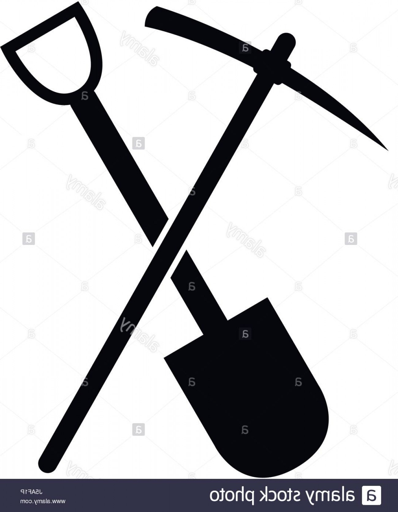 Shovel Vector: Stock Photo Pickaxe Icon And Shovel To Dig