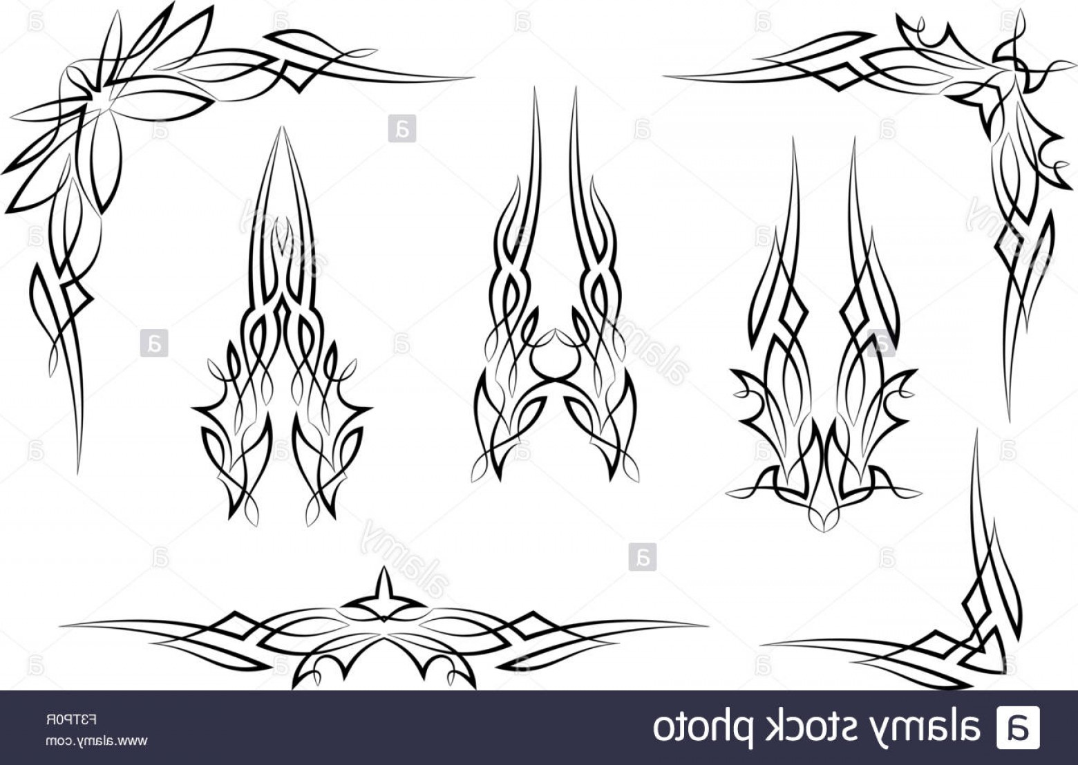 Pinstripe Vector Art: Stock Photo Pinstripe Graphics Corner Border Vinyl Ready Vector Art