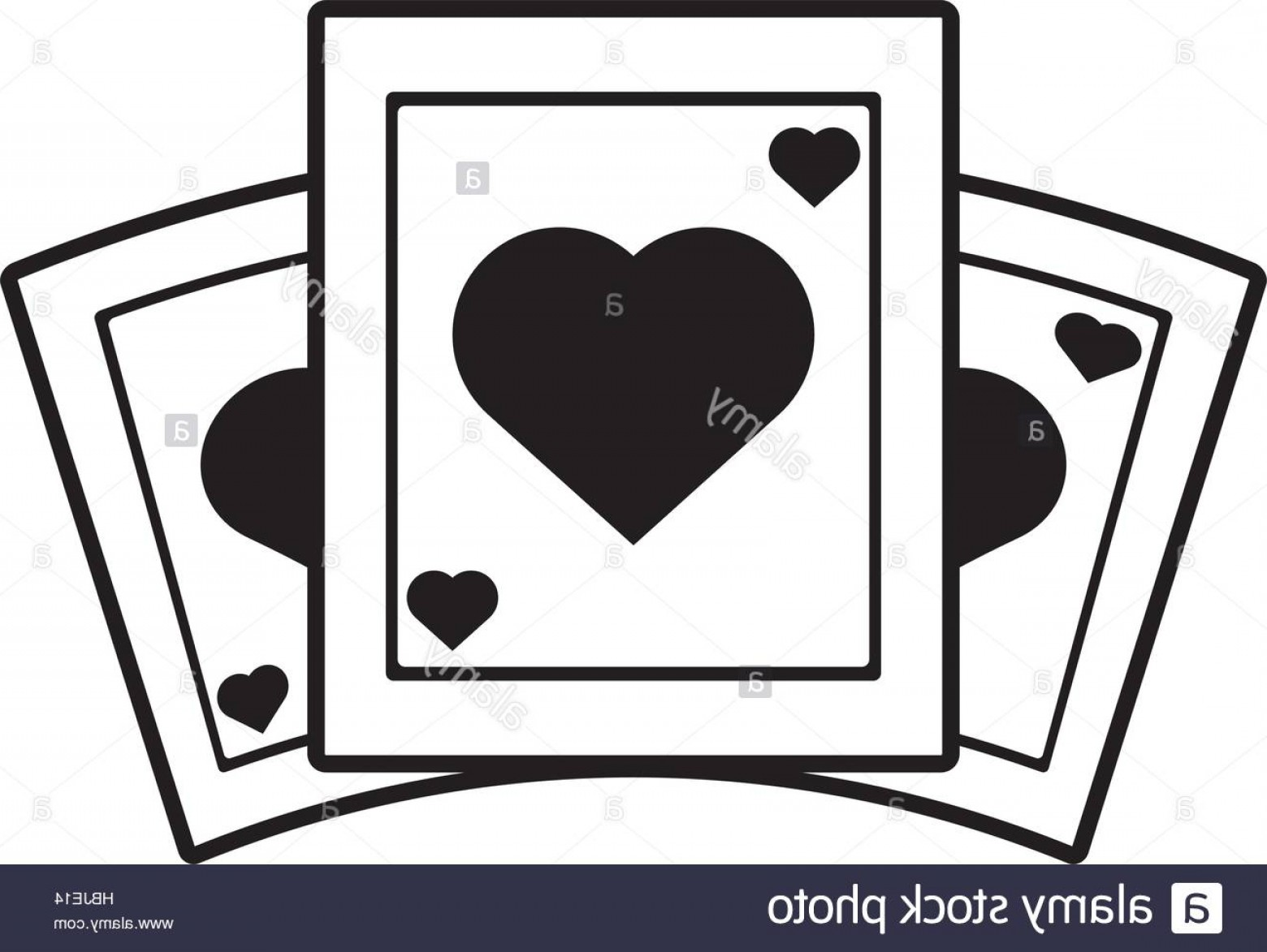 10 Playing Card Vector: Stock Photo Poker Playing Card Gambling Outline Vector Illustration Eps
