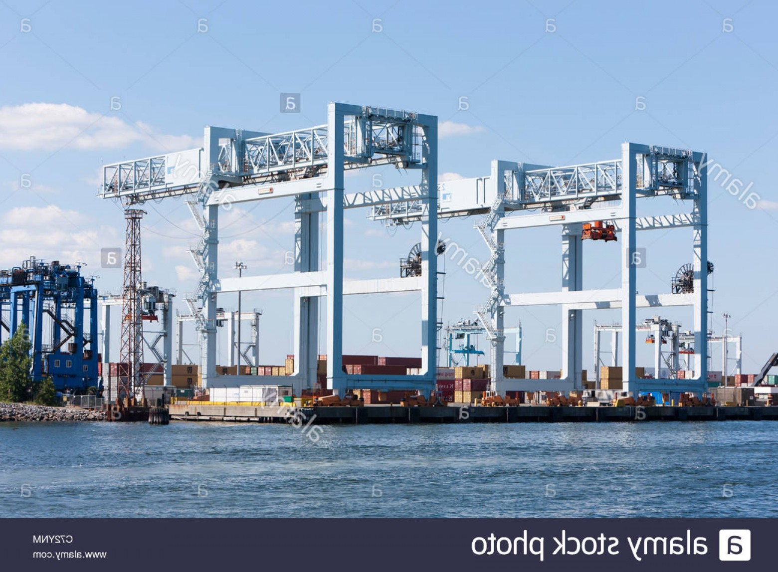 Massport Vector: Stock Photo Portainer Cranes And Of In The Massport Paul W Conley Container