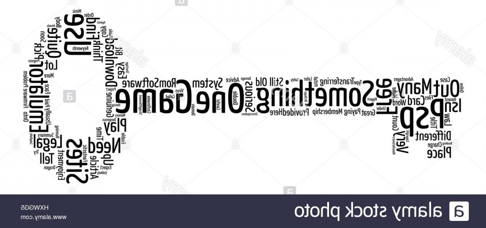 Vector Straightforward: Stock Photo Psp Emulator And Game Word Cloud Concept Text Background