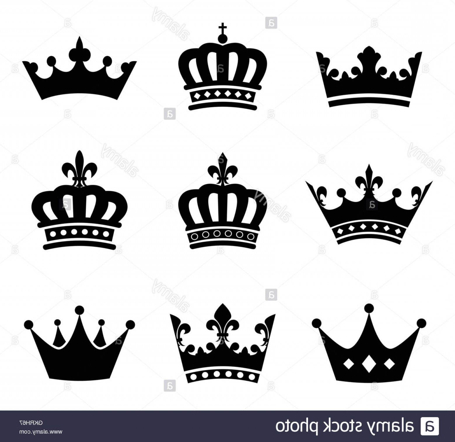 King And Queen Vector: Stock Photo Queen Sign Emperor King Icon Princess Pictogram Symbol Pictograph