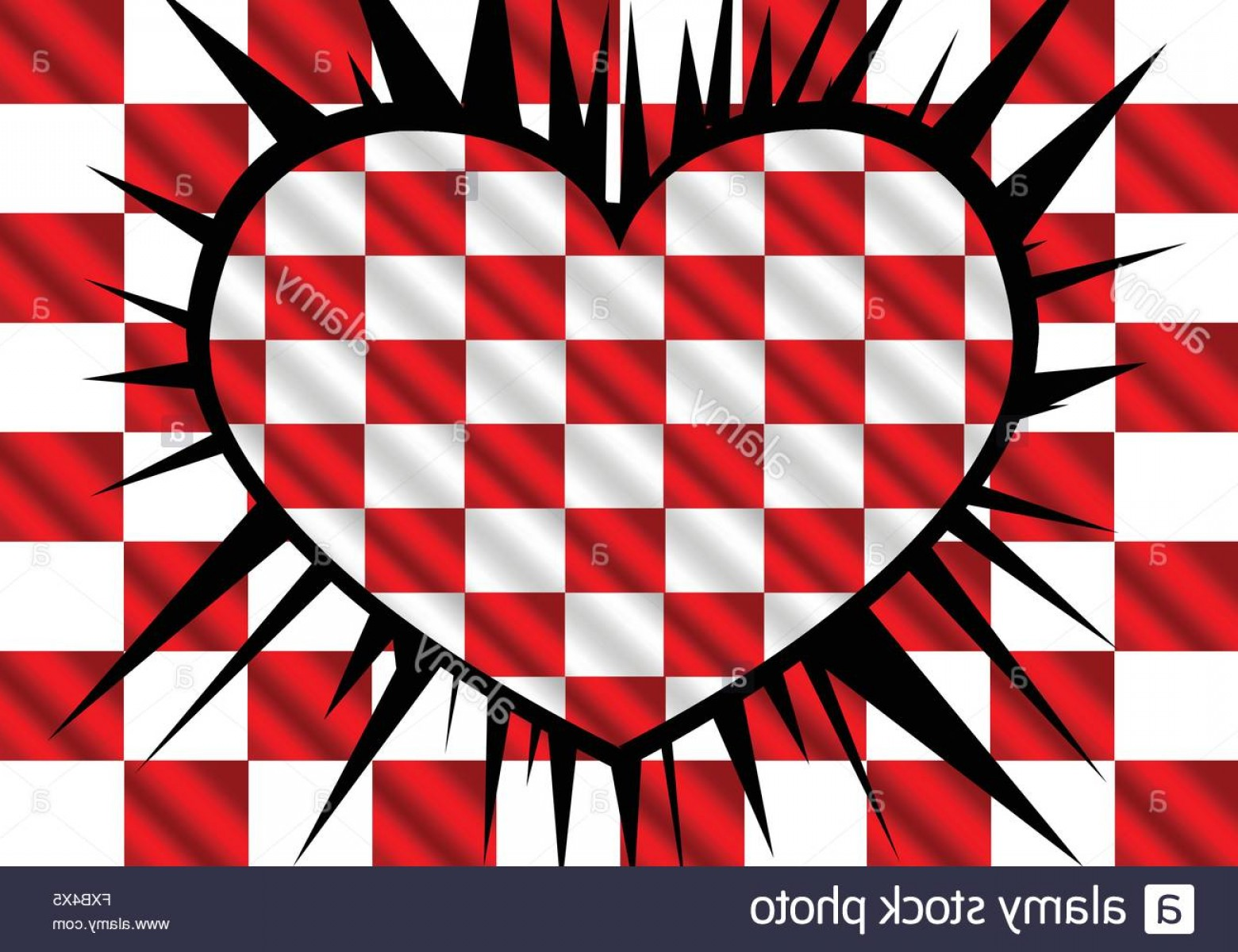 Vector Checkered Flag Heart: Stock Photo Racing Flags Background Checkered Flag Themes Idea Design