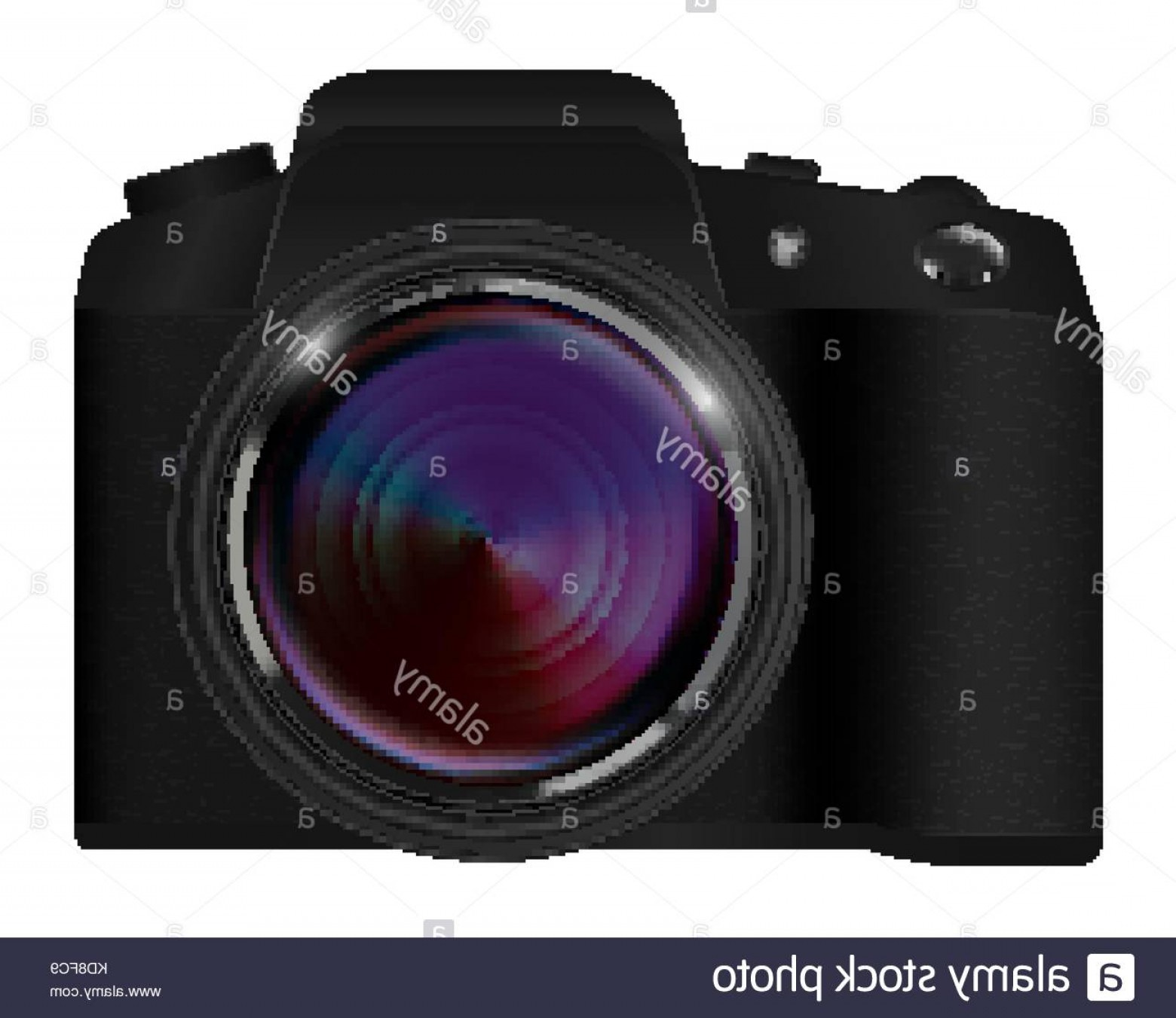 SLR Camera Vector: Stock Photo Real Dslr Camera Vector On A White Background