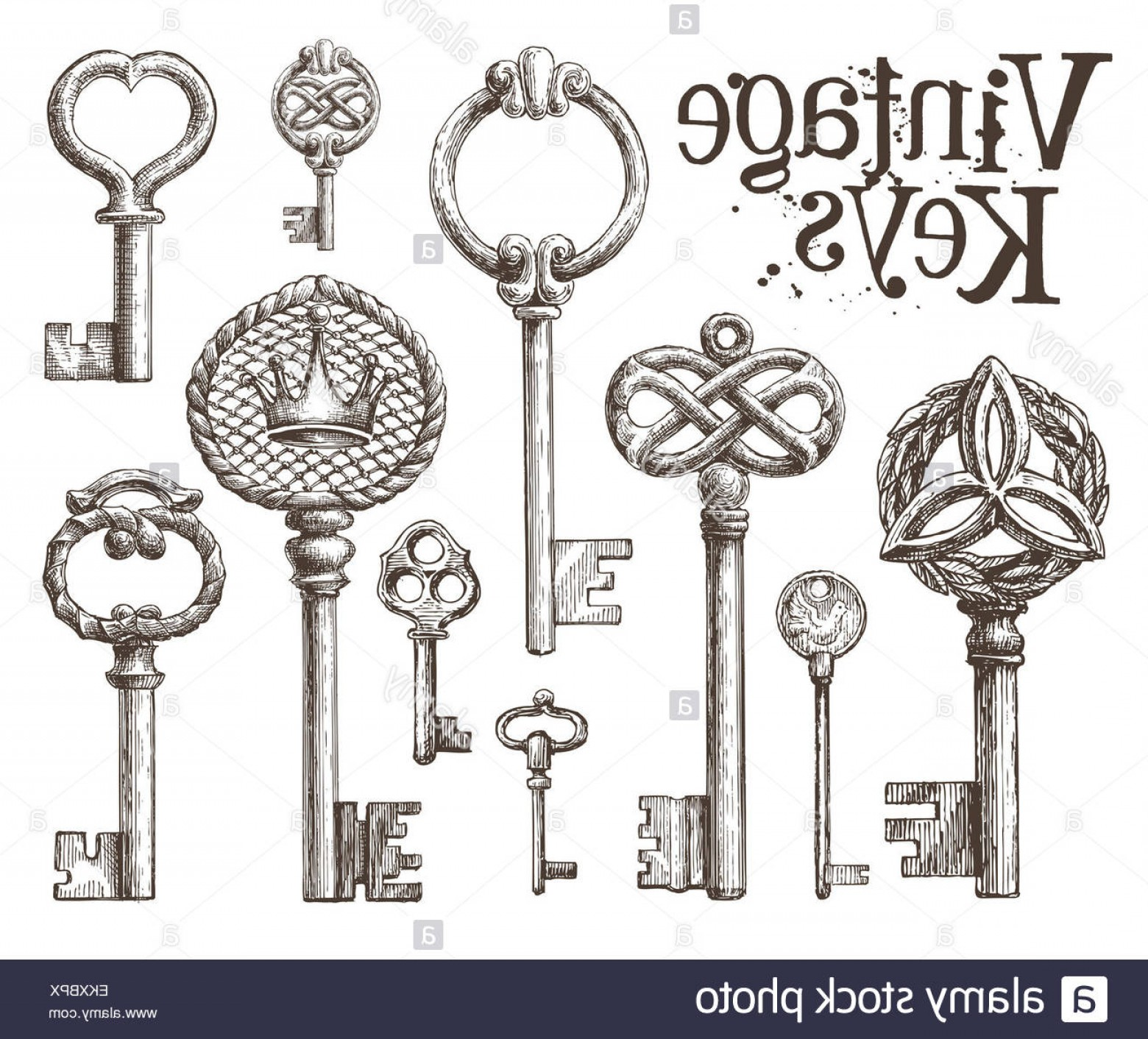 Old Key Vector: Stock Photo Retro Key Vector Logo Design Template Antiques Or Old Thing Icon