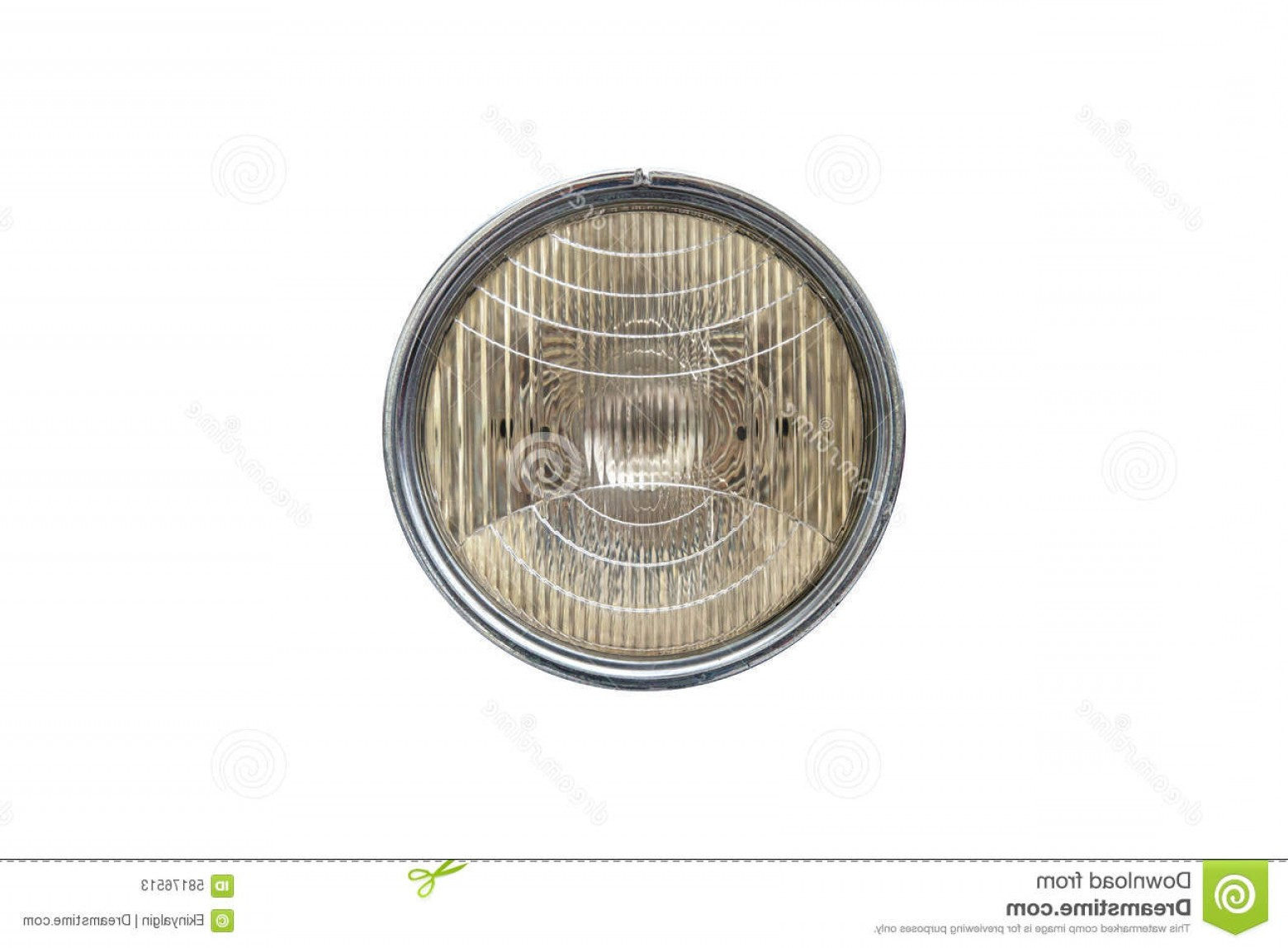 Vector Round Headlight: Stock Photo Round Car Headlight Close Up Front View Isolated White Background Image