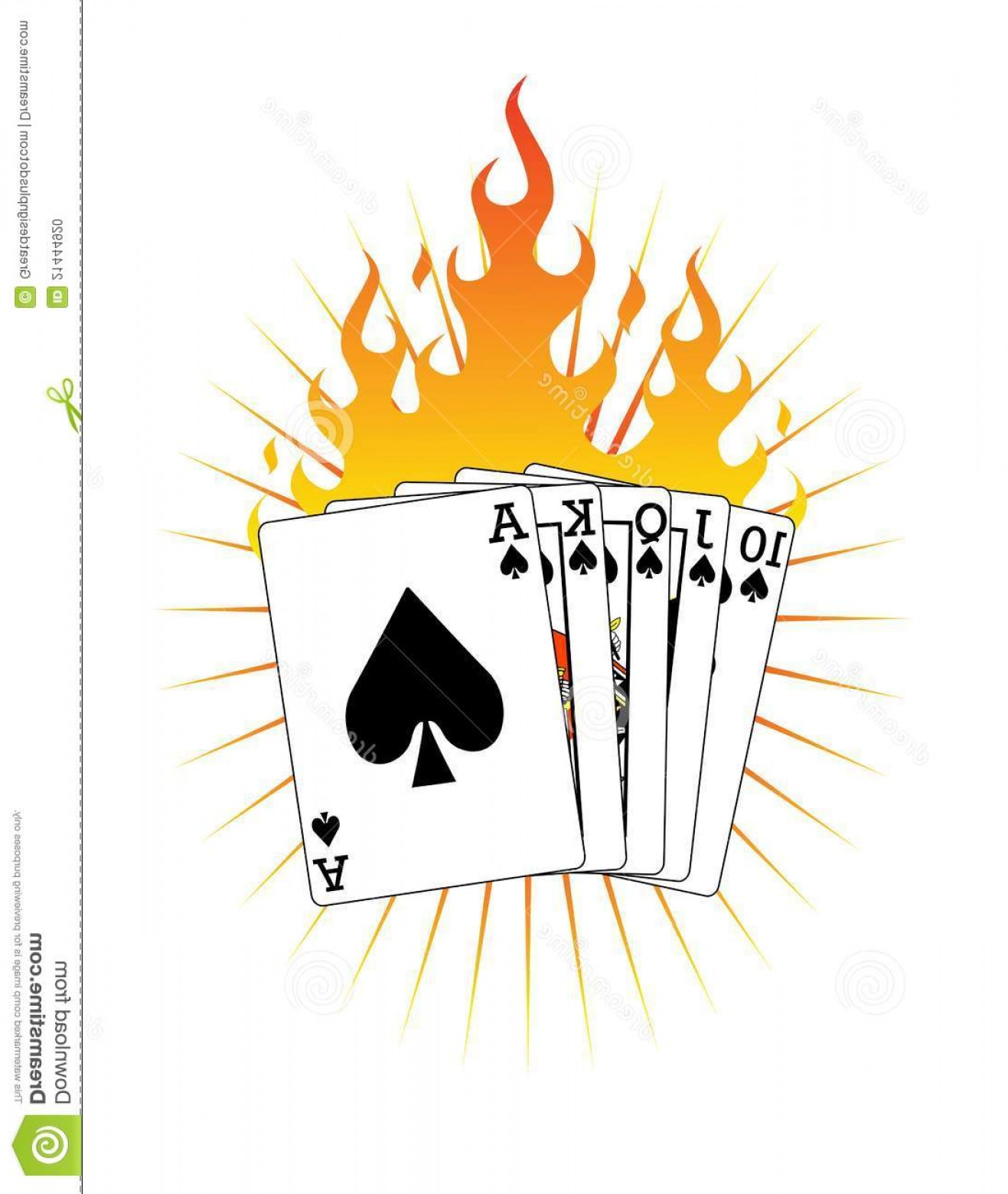 Fire Clip Art Vector: Stock Photo Royal Flush Fire Vector Clip Art Image