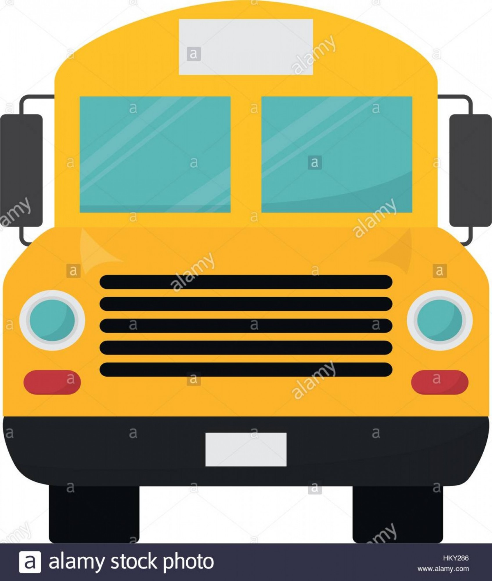 Pic Bus Vector Format: Stock Photo School Bus Front View Icon Vector Illustration Graphic Design