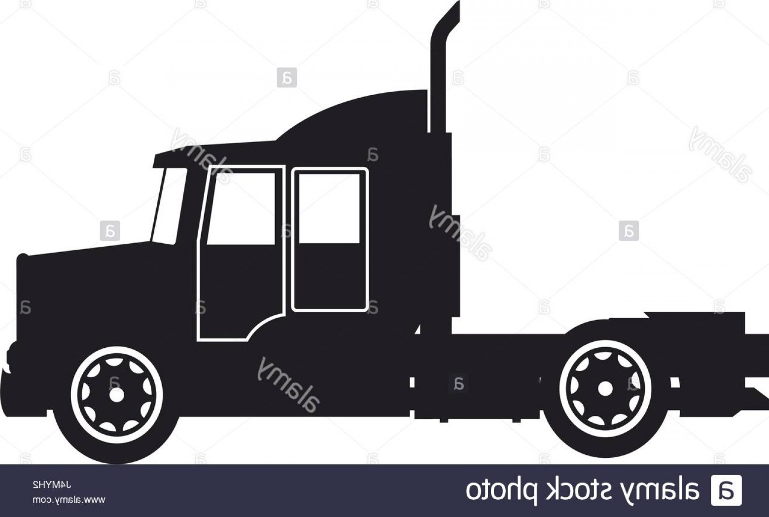 Vector Truck And Trailer Hauling: Stock Photo Semi Trailer Truck Transportation Isolated On White Background