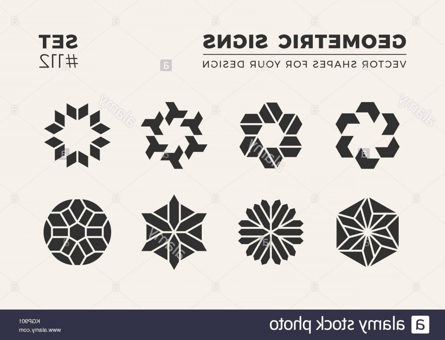 Simple Vector Logo: Stock Photo Set Of Eight Minimalistic Trendy Shapes Stylish Vector Logo Emblems
