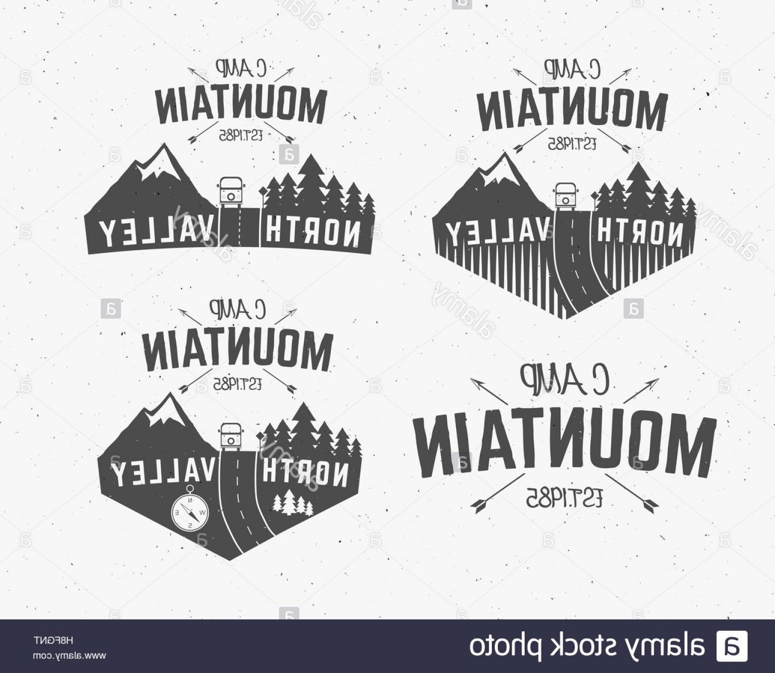 Hipster Logo Vectors Mountain: Stock Photo Set Of Mountain Camp Vintage Explorer Labels Outdoor Adventure Logo