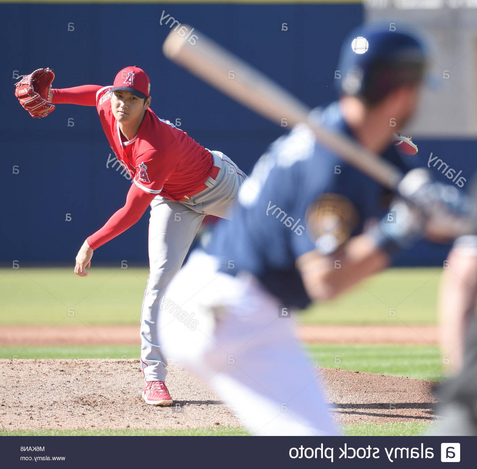 MLB Vectors: Stock Photo Shohei Ohtani Angels March Mlb Los Angeles Angels Starting