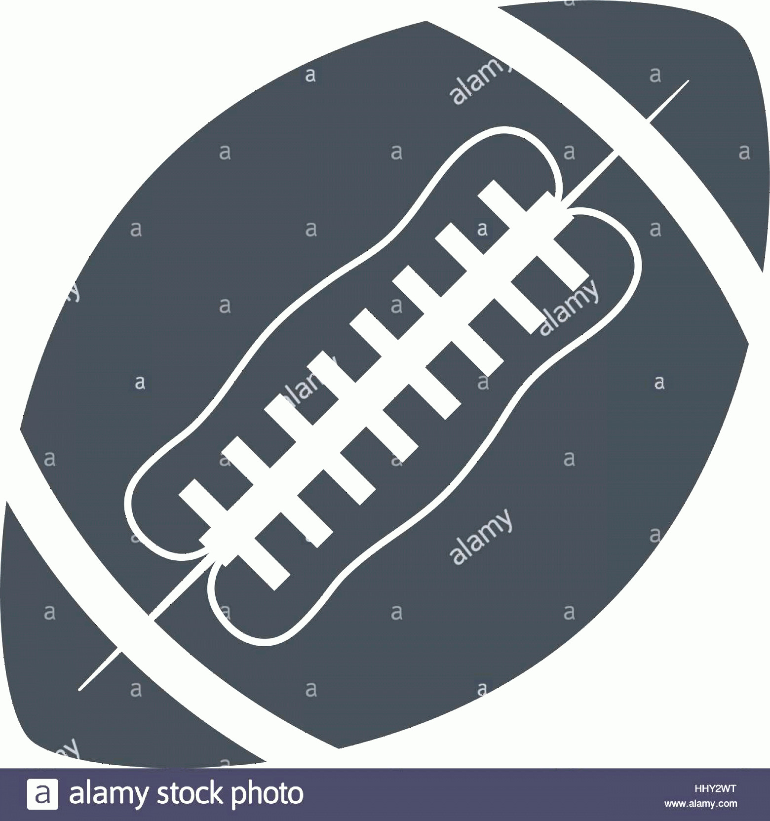 Football Laces Vector Silhouette: Stock Photo Silhouette Ball American Football Sport
