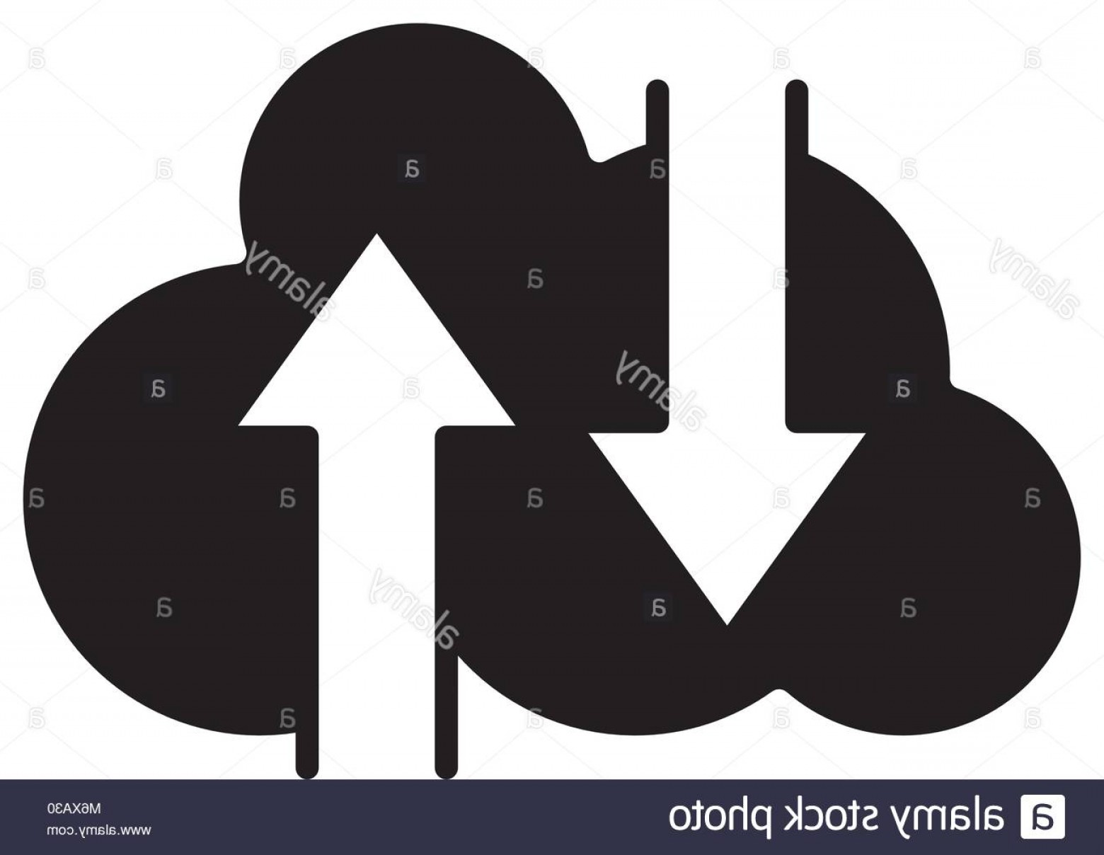 Downloadable Vector Art: Stock Photo Silhouette Cloud Data Loading And Downloading Server Vector Illustration