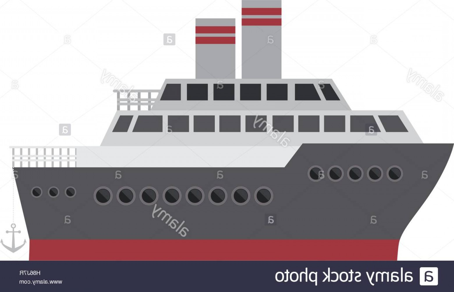 Waves With Cruise Ship Silhouette Vector: Stock Photo Silhouette Color With Cruise Ship Vector Illustration
