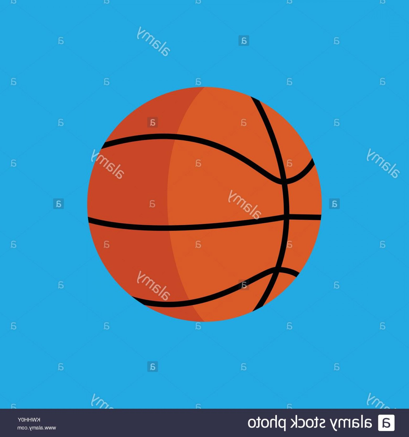 Basketball Vector Graphic Designs: Stock Photo Simple Flat Style Basketball Sport Vector Illustration Graphic Design