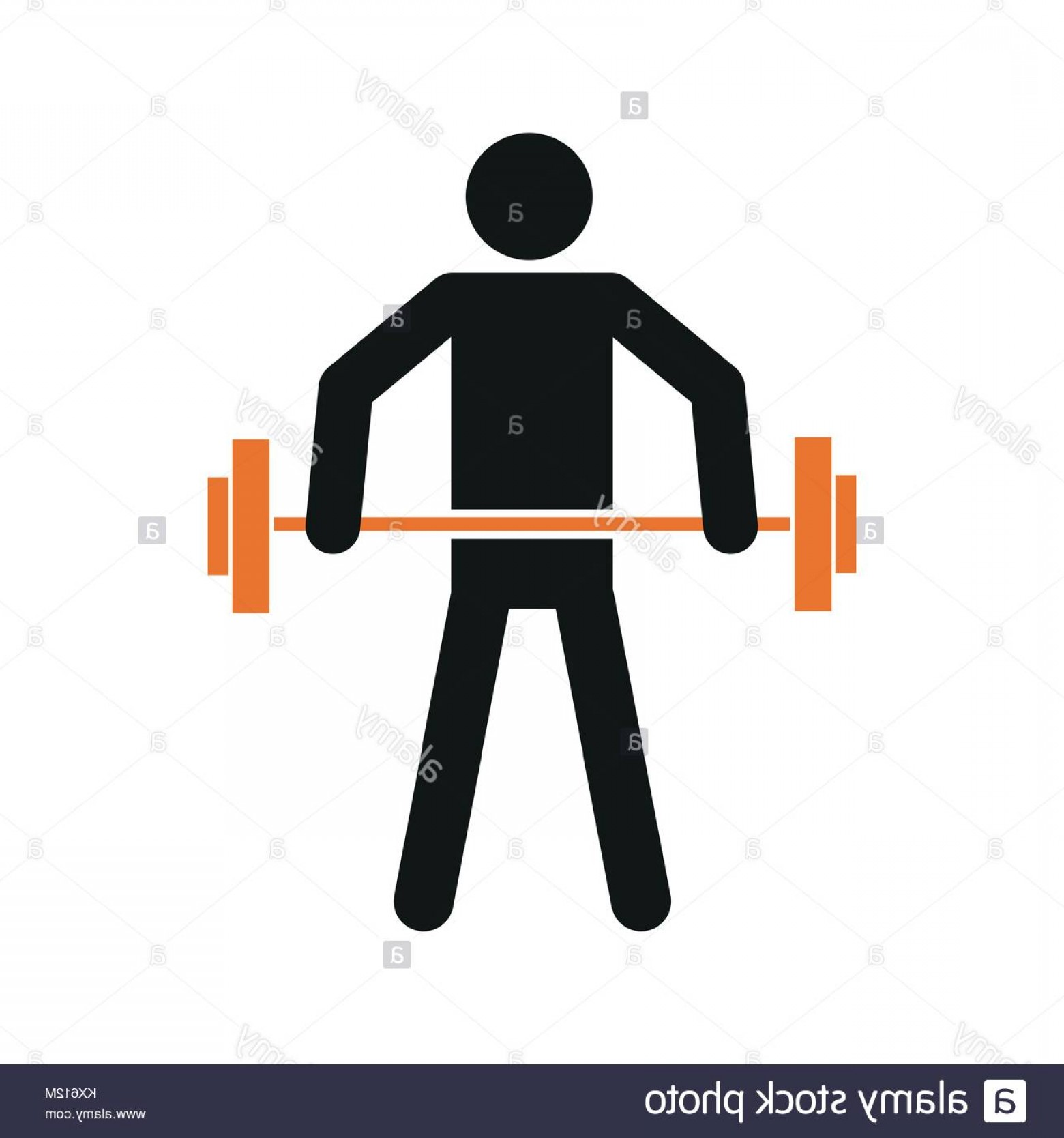 Weight Lifting Vector Graphics: Stock Photo Simple Weightlifting Sport Figure Symbol Vector Illustration Graphic