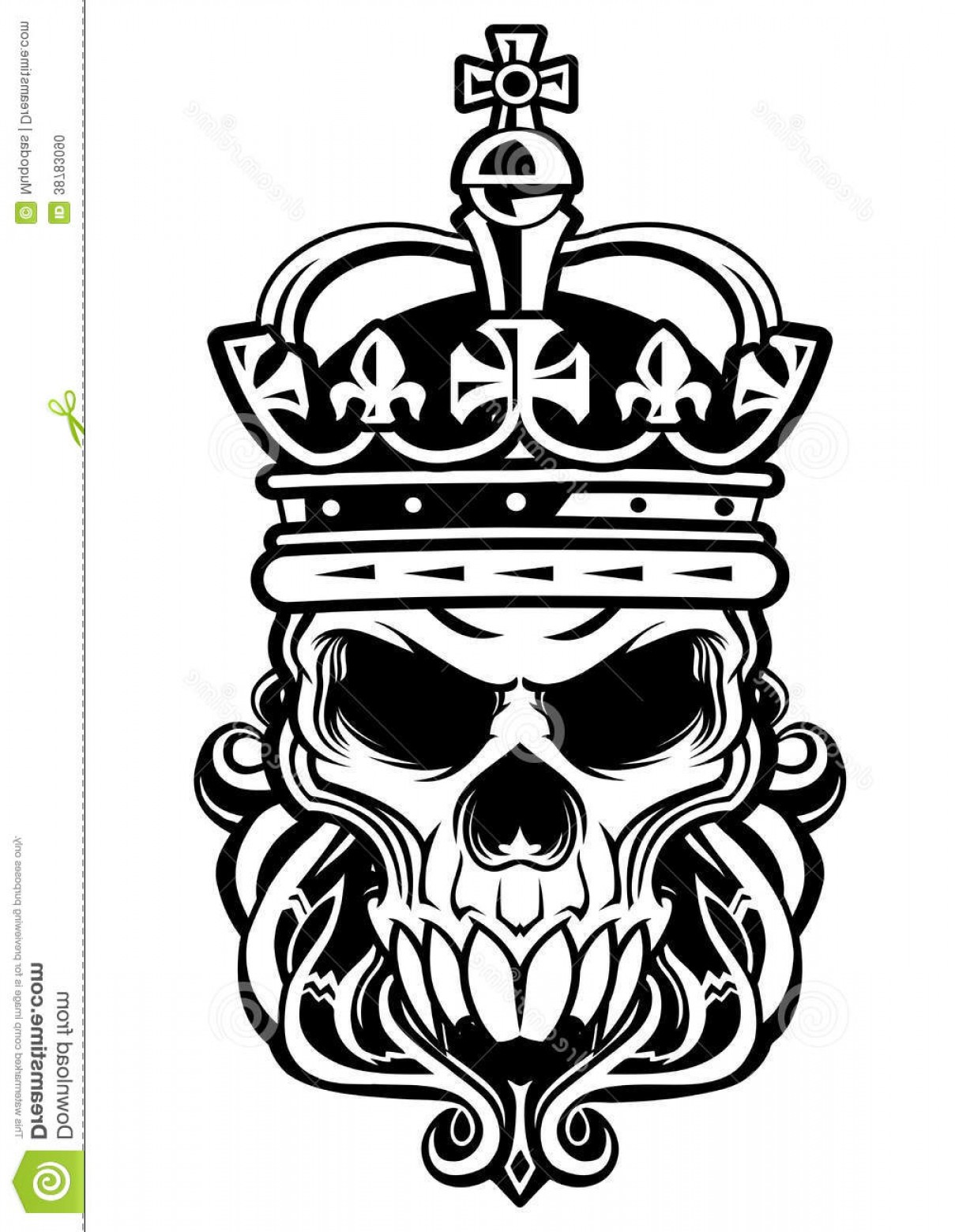 His And Hers Skulls Vector: Stock Photo Skull King Crown Beard Image