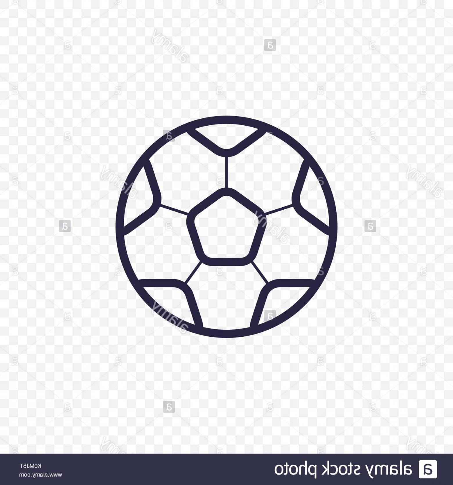 Abstract Football Vector Outline: Stock Photo Soccer Ball Simple Line Icon Football Game Thin Linear Signs Outline