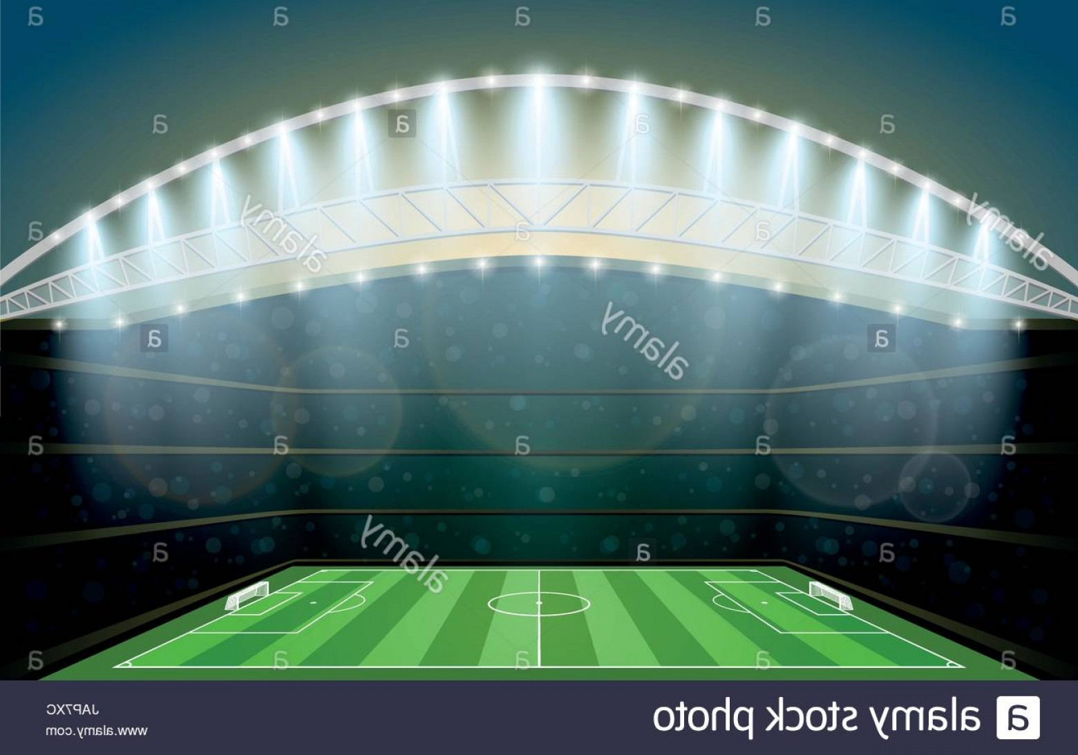 Vector Sport Spot: Stock Photo Soccer Stadium With Spot Light Football Arena Vector Illustration