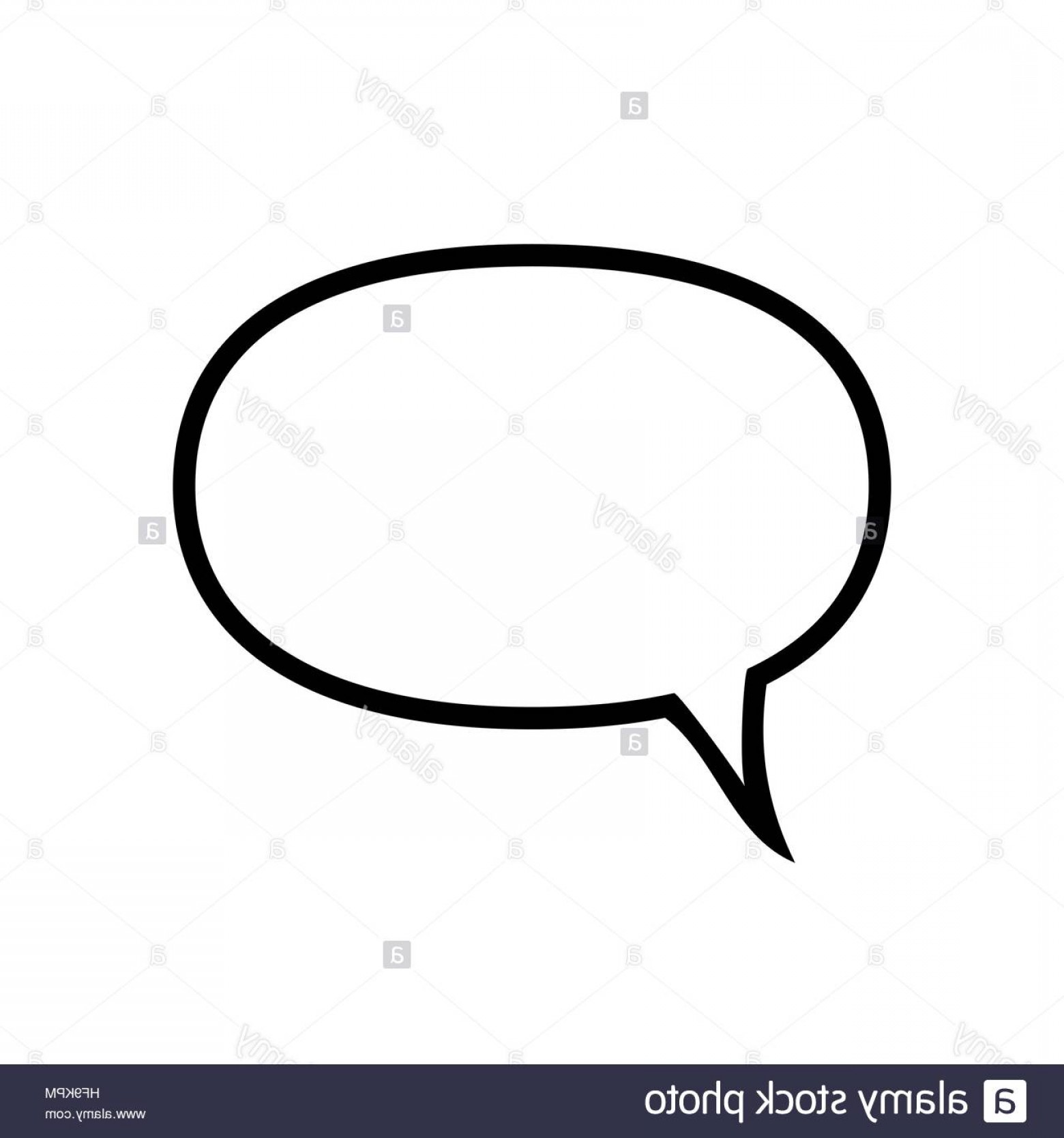 Speech Bubble Icon Vector: Stock Photo Speech Bubble Icon Round Shape Black Symbol Isolated On White Background