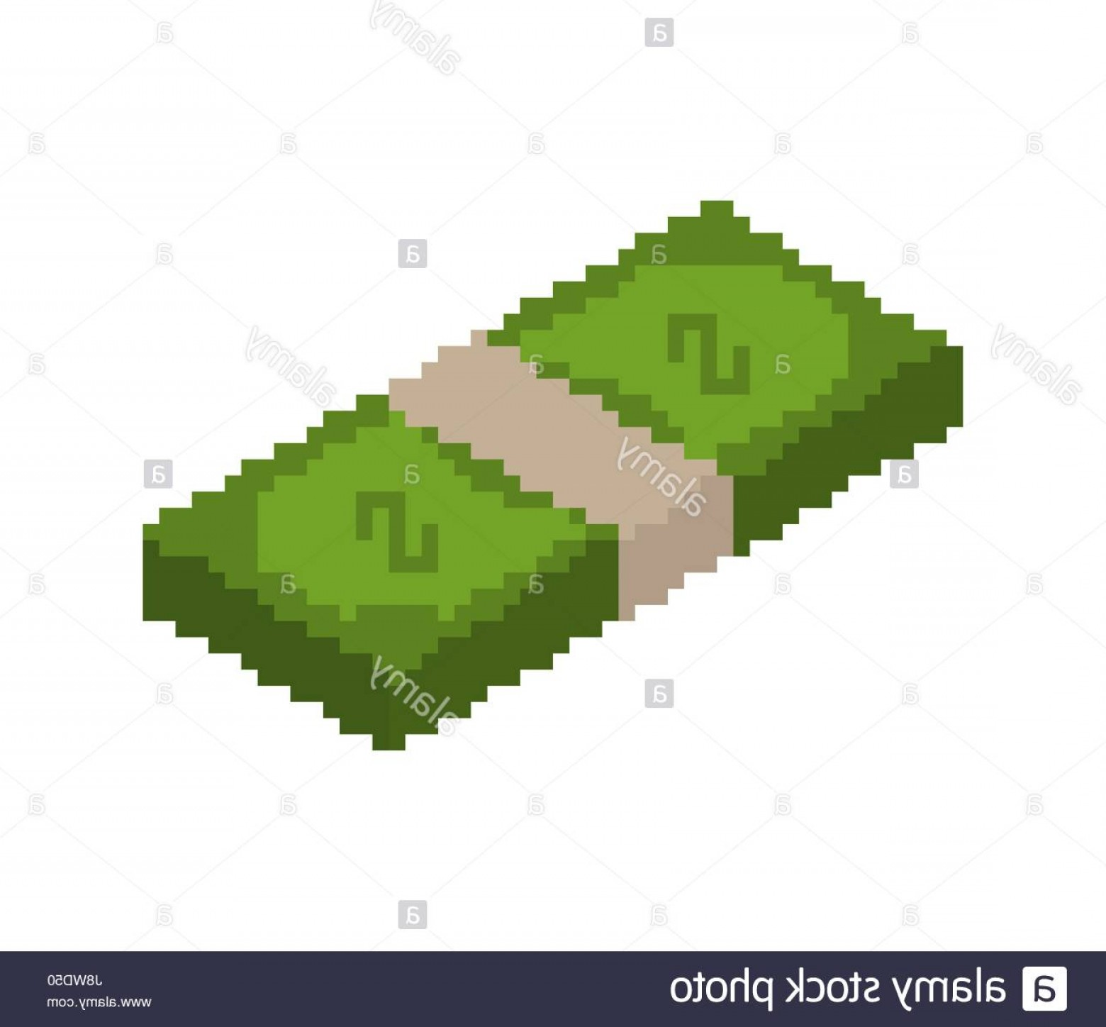 Hundreds Of Money Stacks Vector: Stock Photo Stack Of Money Pixel Art Pile Of Cash Pixelated Dollars Isolated