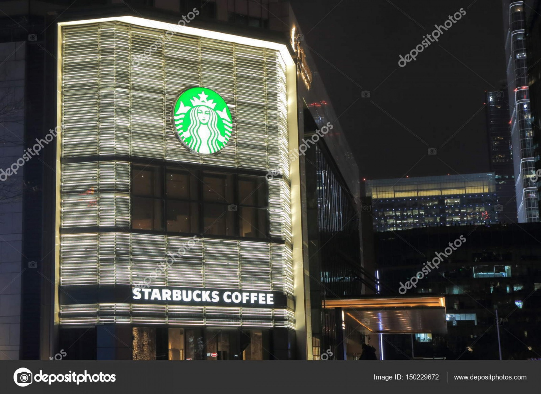 Starbucks China Vector: Stock Photo Starbucks Coffee Shop Beijing China
