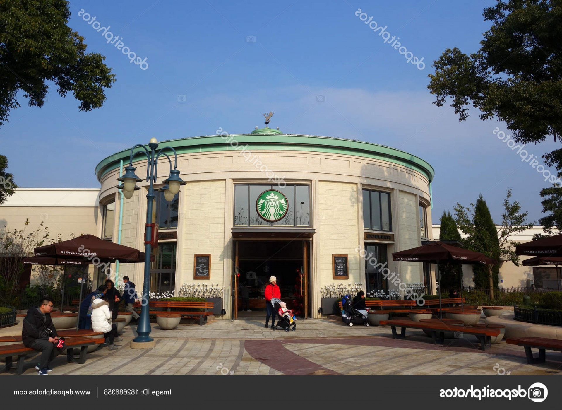 Starbucks China Vector: Stock Photo Starbucks In Shanghai China