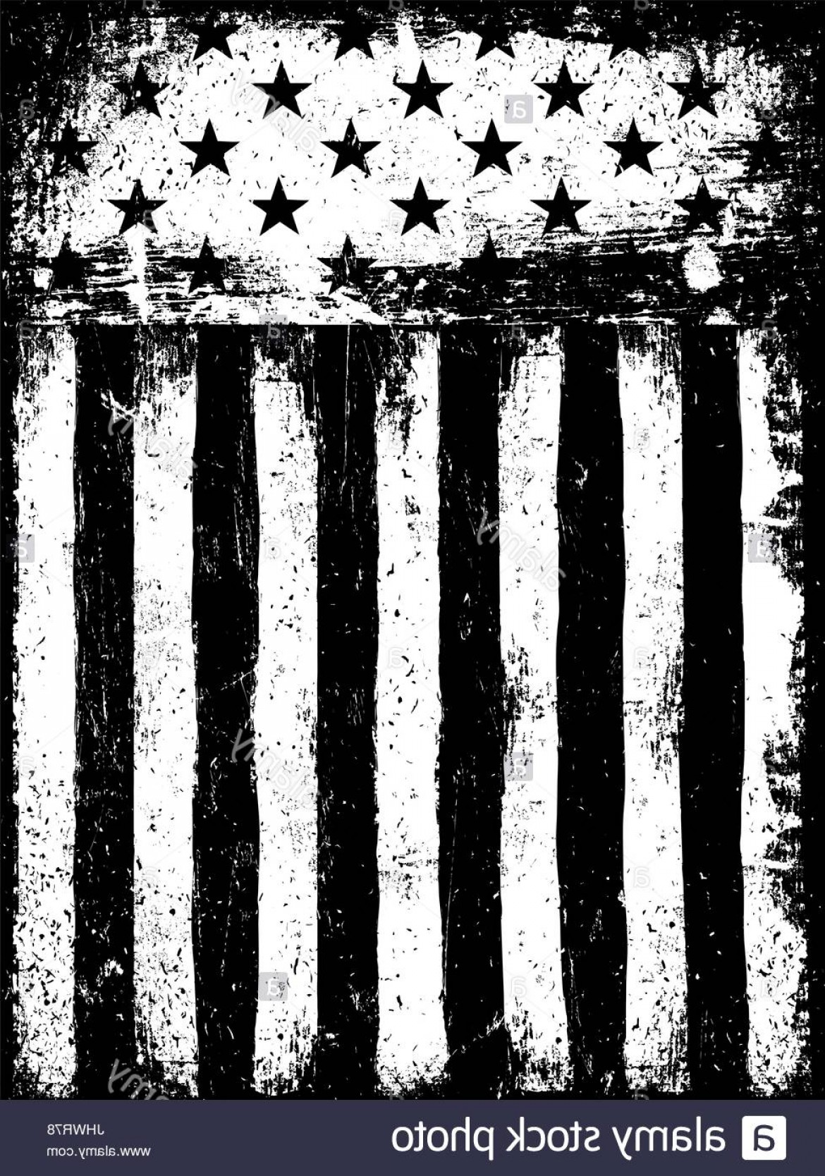 Vertical American Flag Vector: Stock Photo Stars And Stripes Monochrome Negative Photocopy American Flag Background