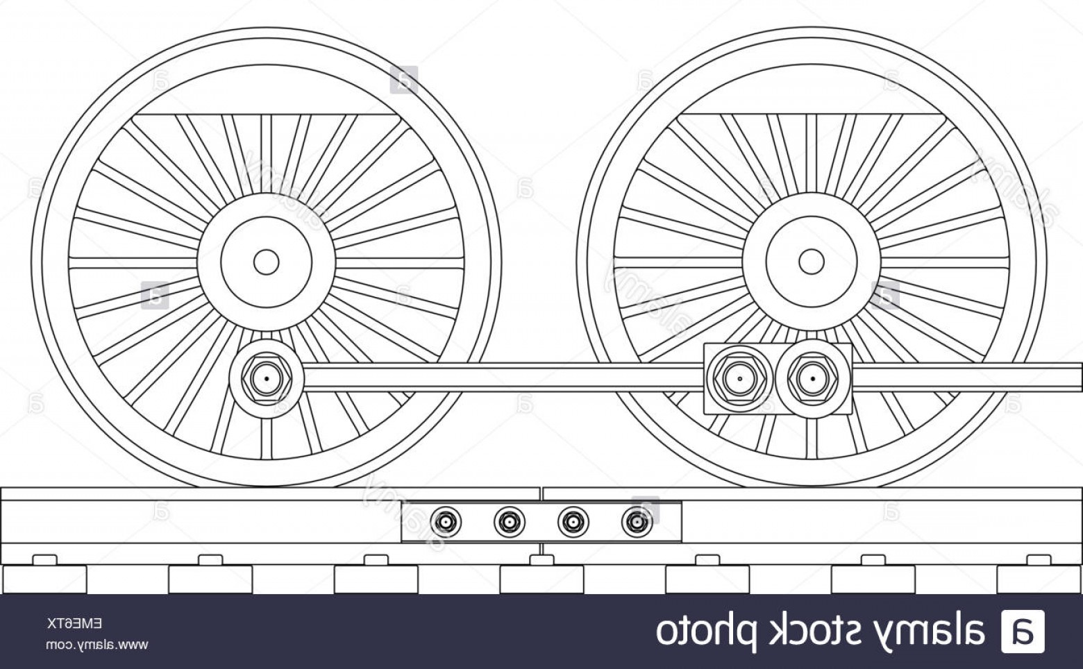 Vector Train Wheel: Stock Photo Steam Train Wheels