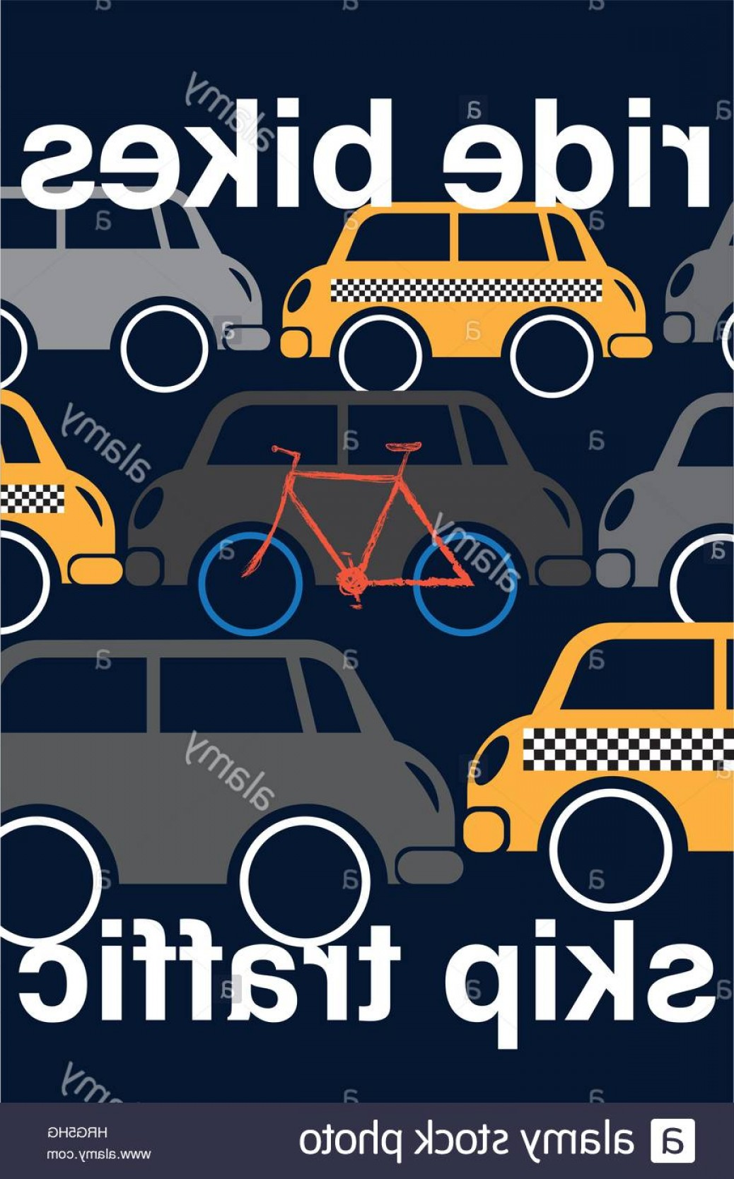 Vector Straightforward: Stock Photo Straightforward Image Shows How Choosing Bikes Over Cars Is An Excellent