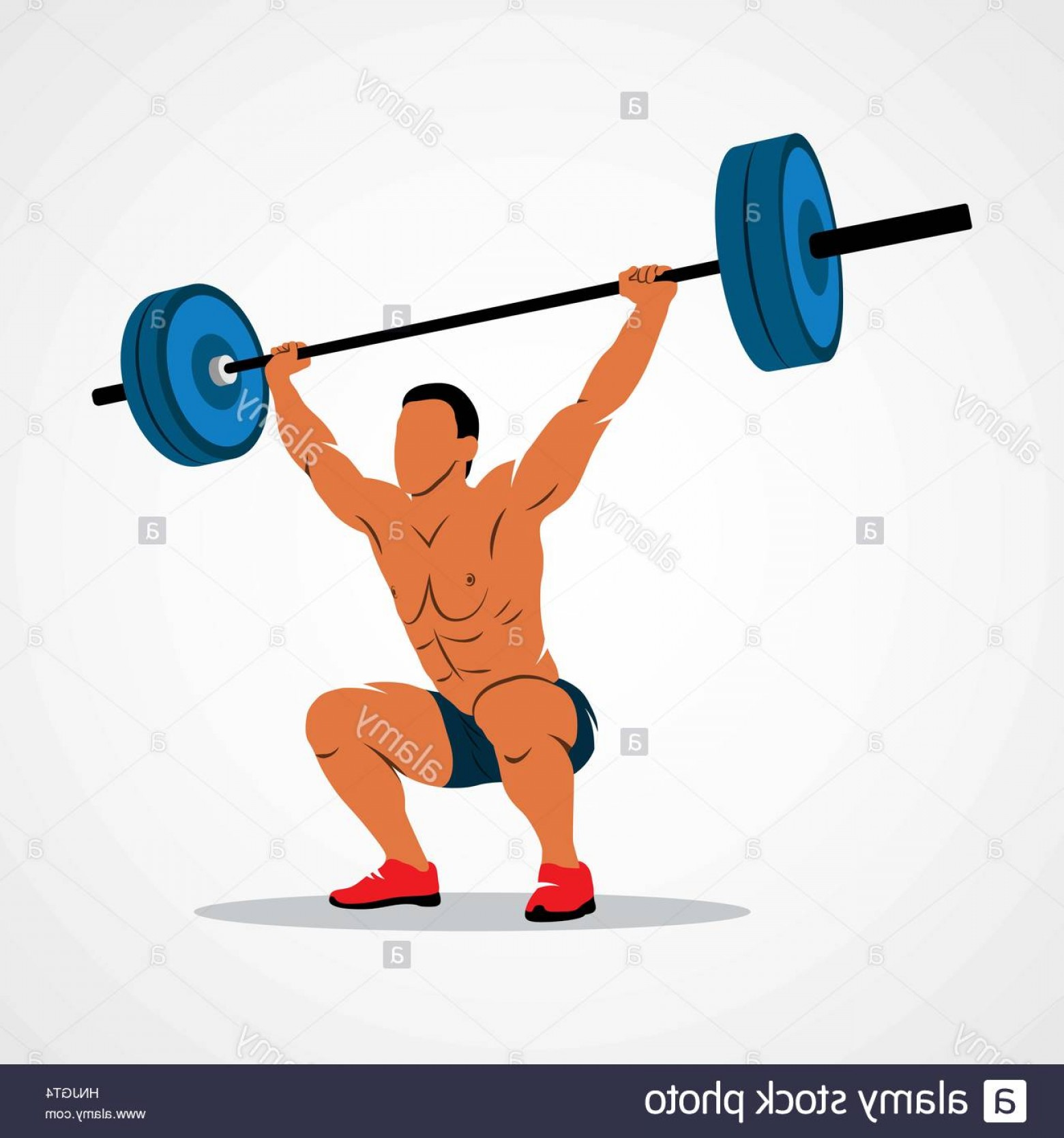 Weightlifter Vector Art: Stock Photo Strong Man Lifting Weights Powerlifting Weightlifting Vector Illustration