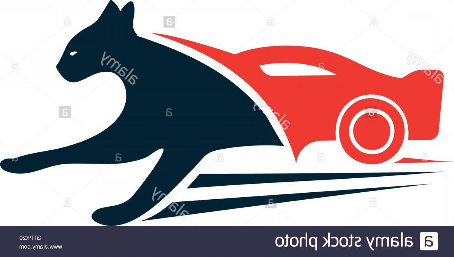 Panther Vector: Stock Photo Stylish Black Panther Vector Unusual Logo Red Car Abstract Logo Panther
